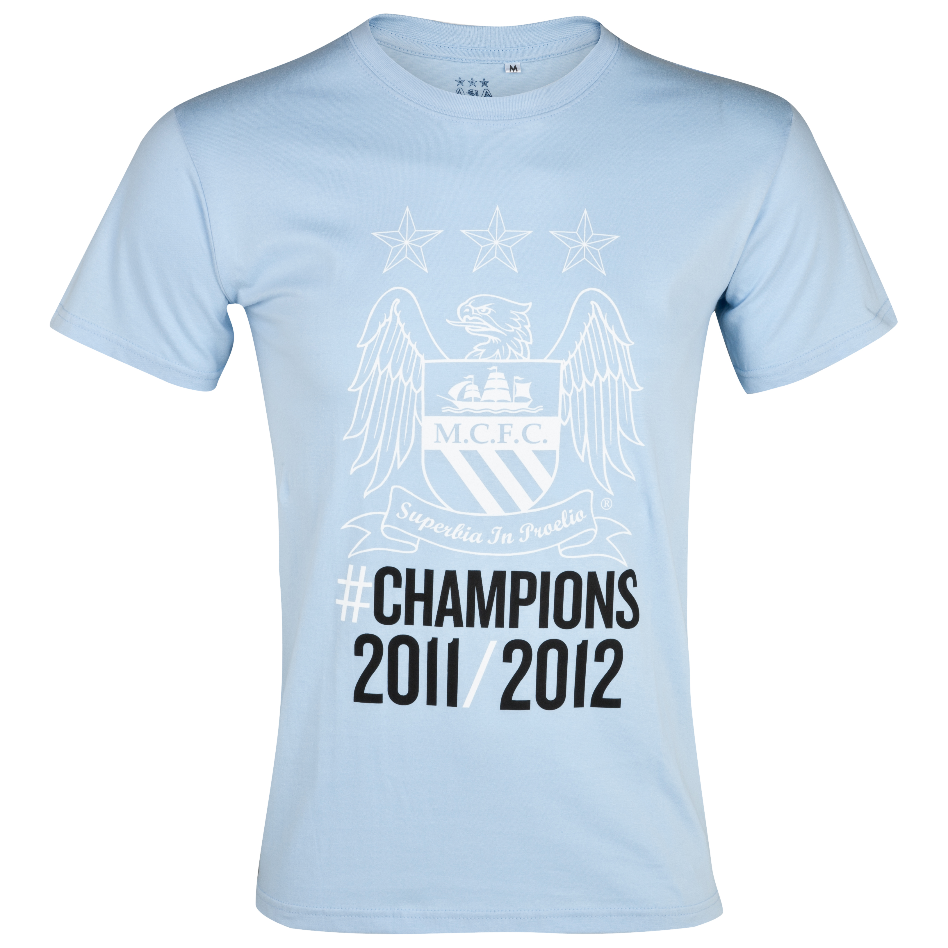 Manchester City Winners T-Shirt - Sky - Older Boys