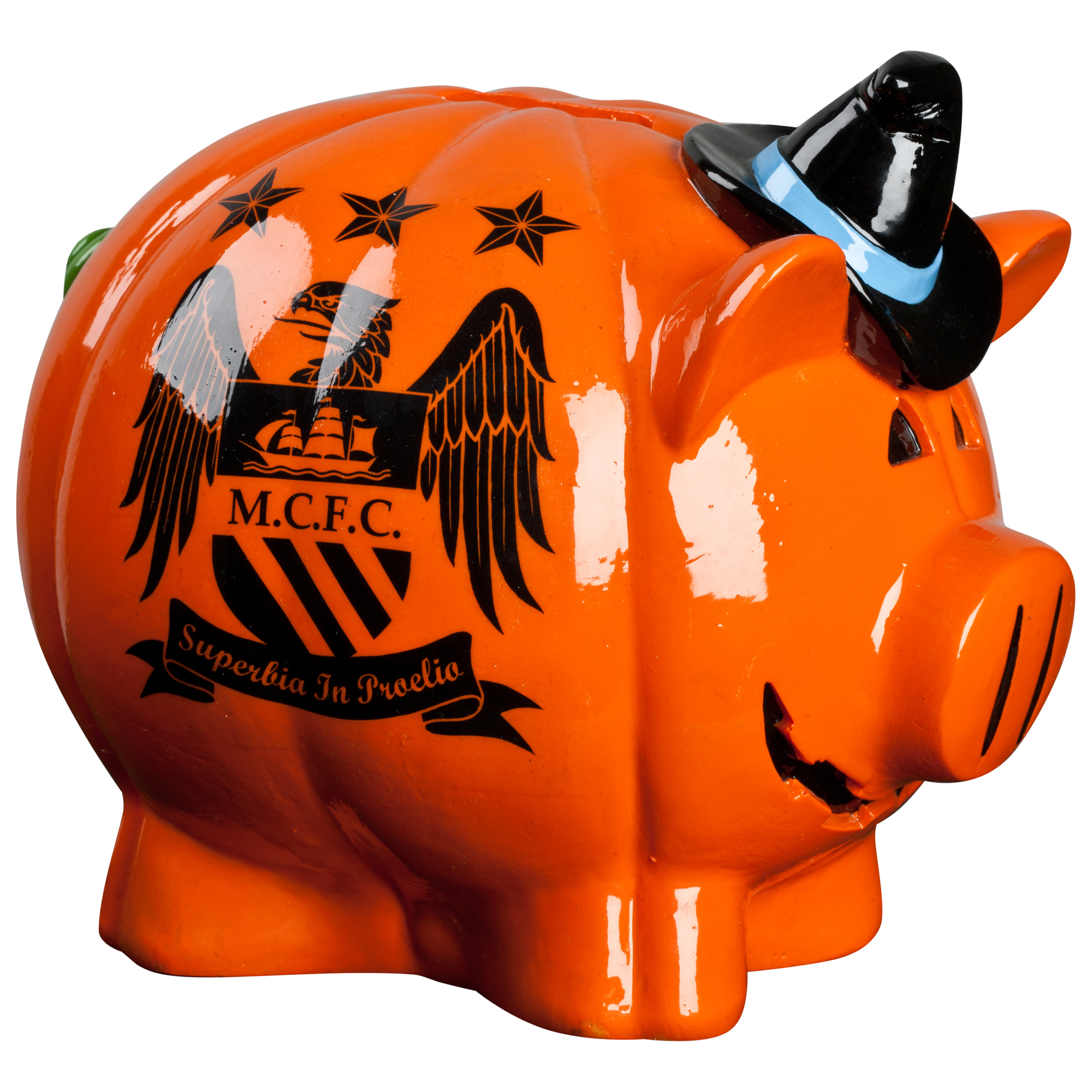 Manchester City Halloween Piggy Bank - 7x8.5inch
