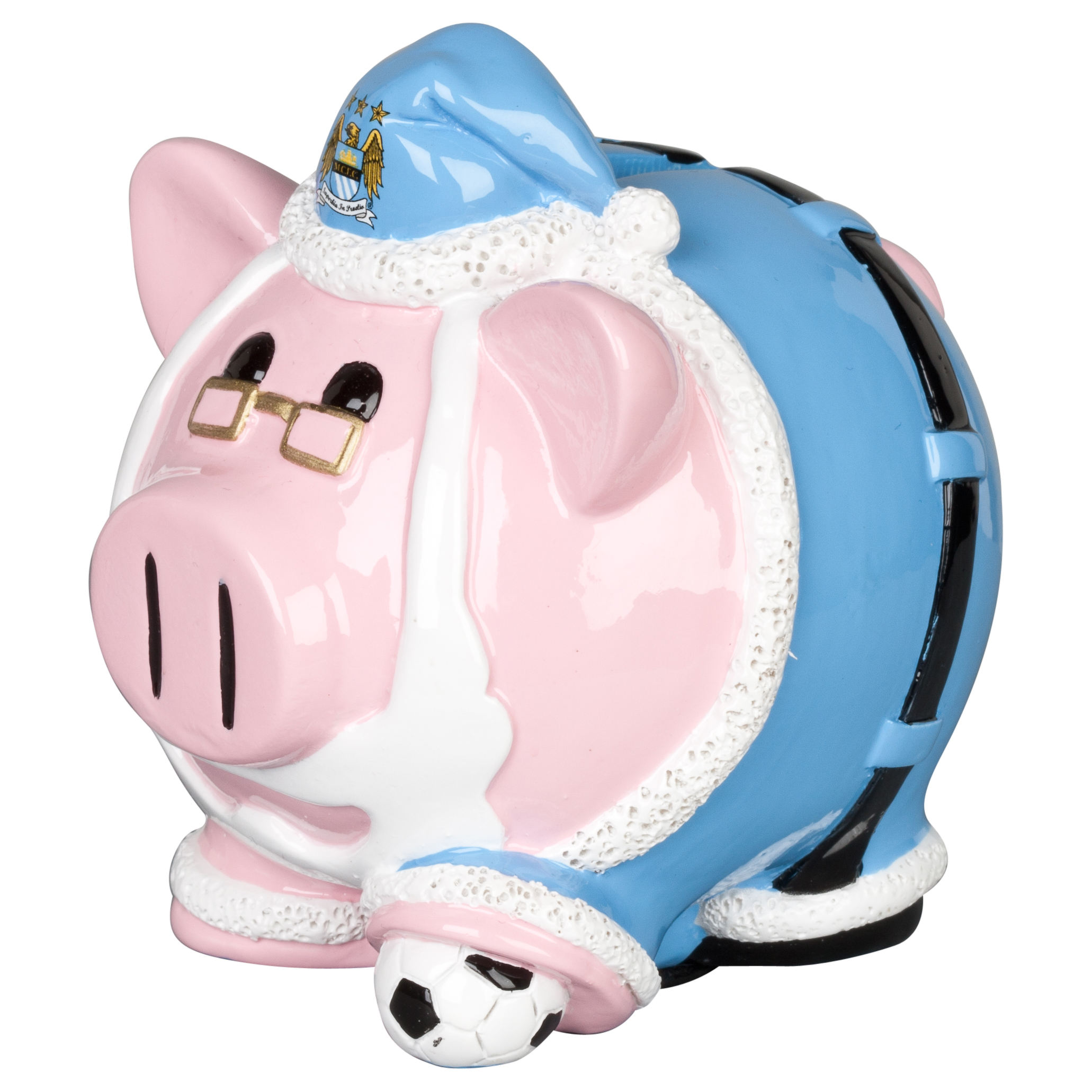 Manchester City Santa Piggy Bank -  4x4inch