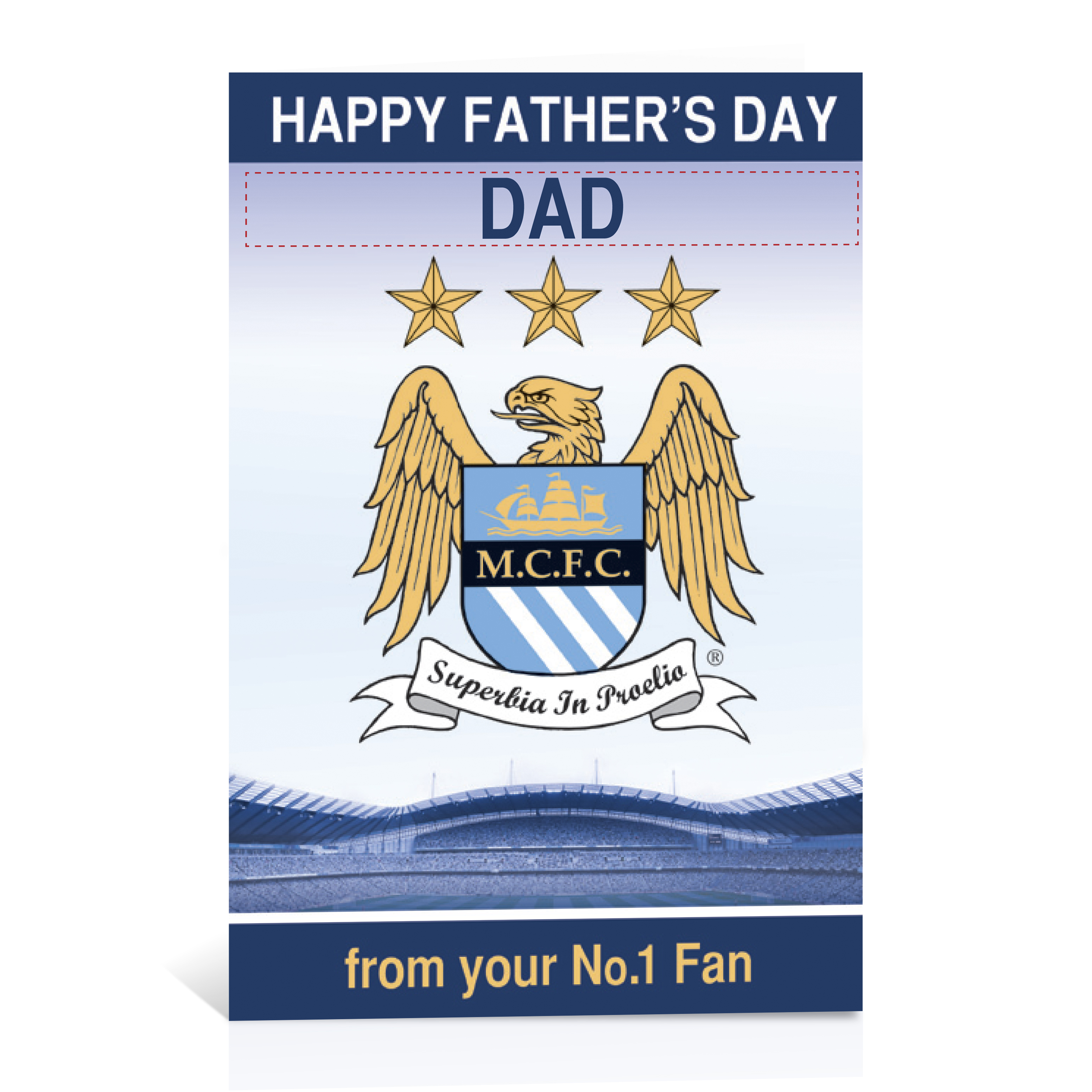 Manchester City Personalised Fathers Day Card