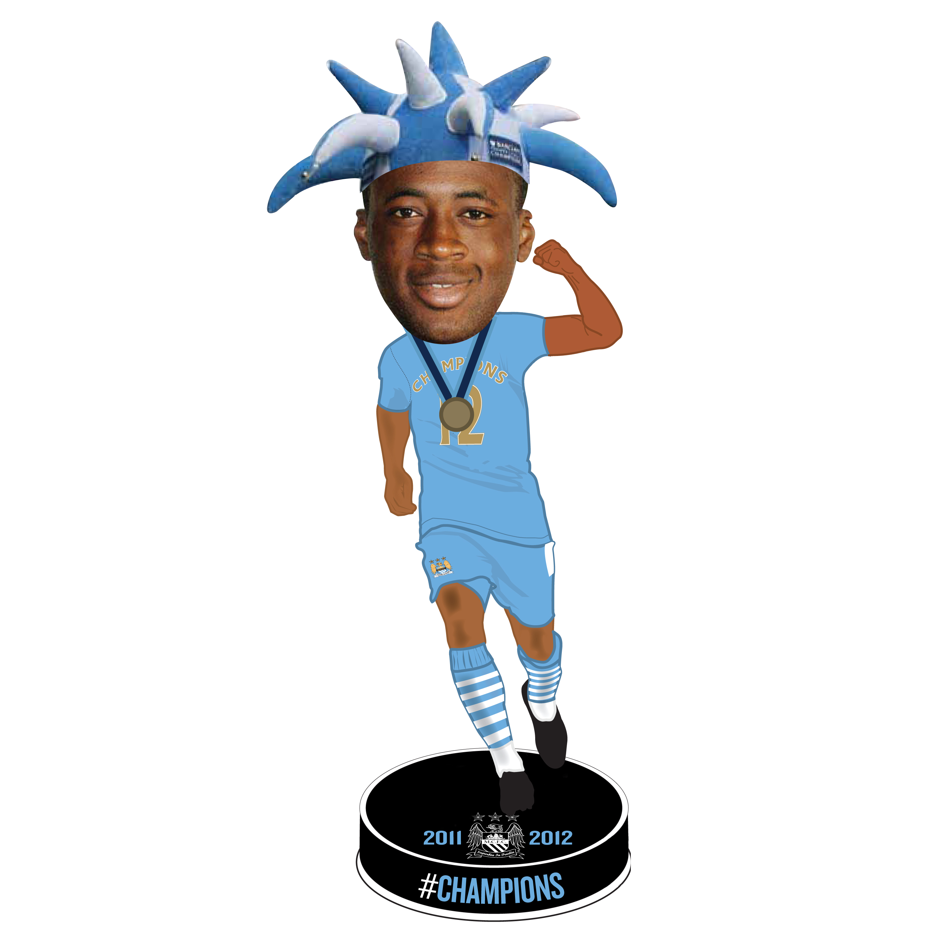 Manchester City #Champions 11/12 Toure Bobble Head