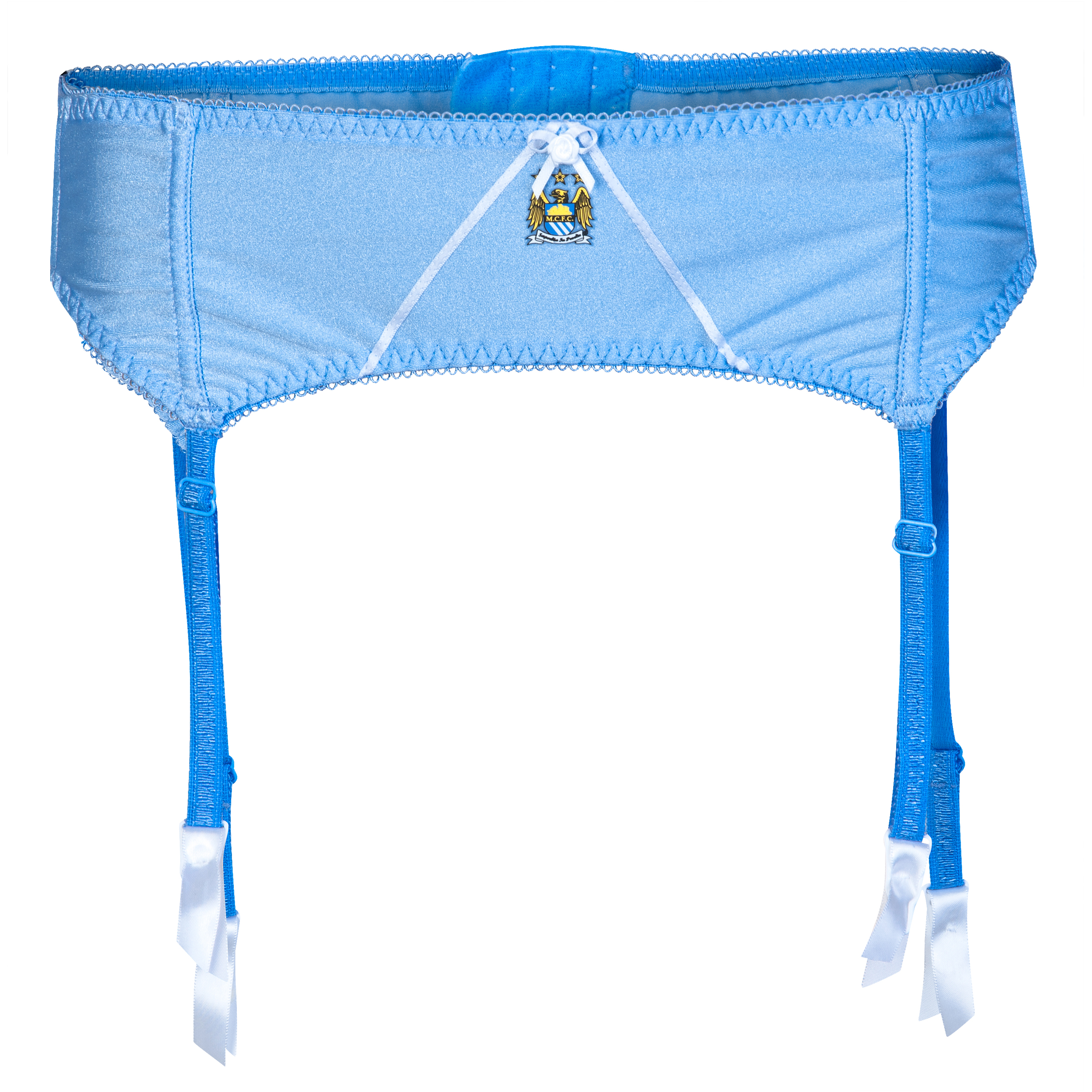Manchester City Suspender Belt - Sky/White - Womens