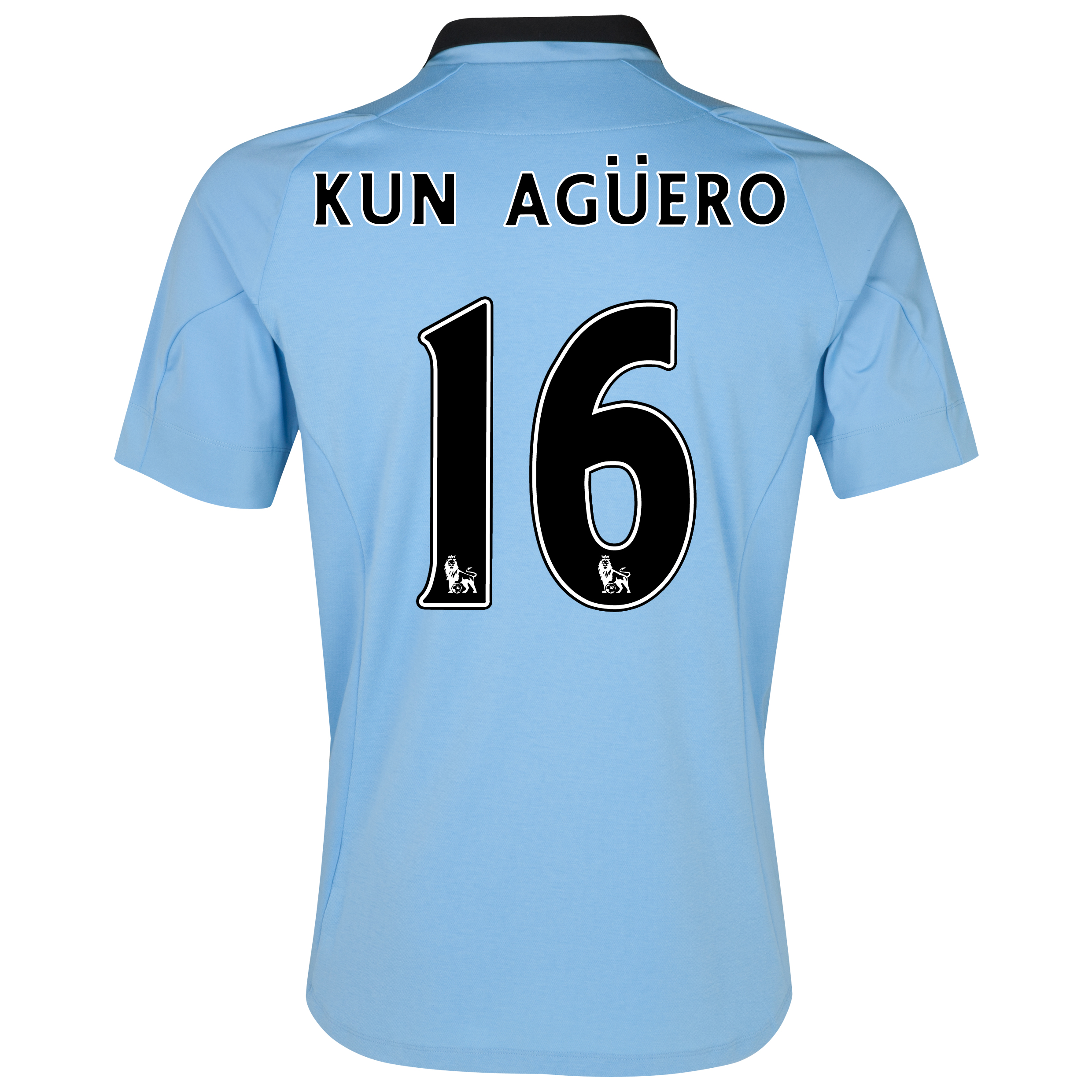 Manchester City Home Shirt 2012/13 with Kun Agüero  16 printing