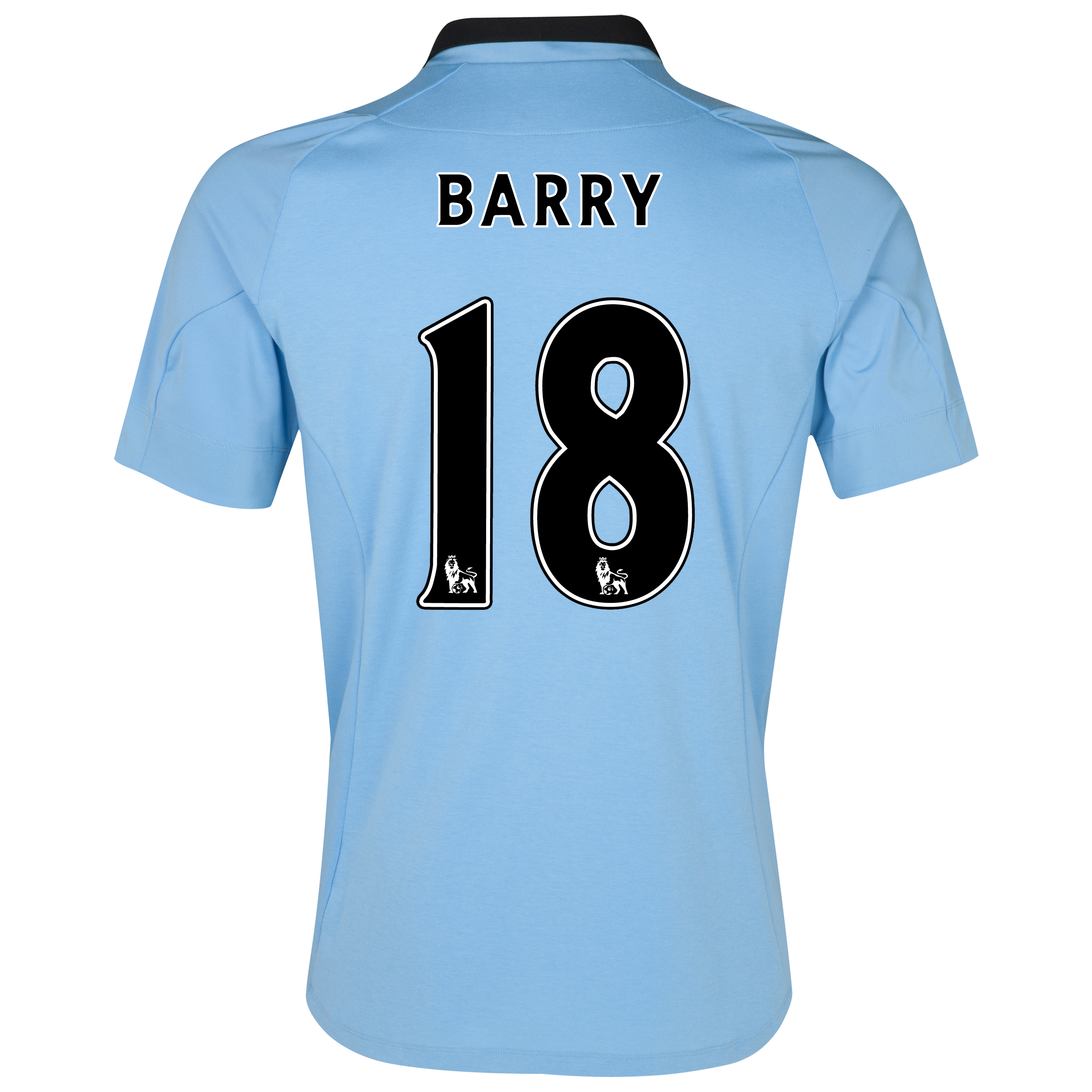 Manchester City Home Shirt 2012/13 with Barry 18 printing