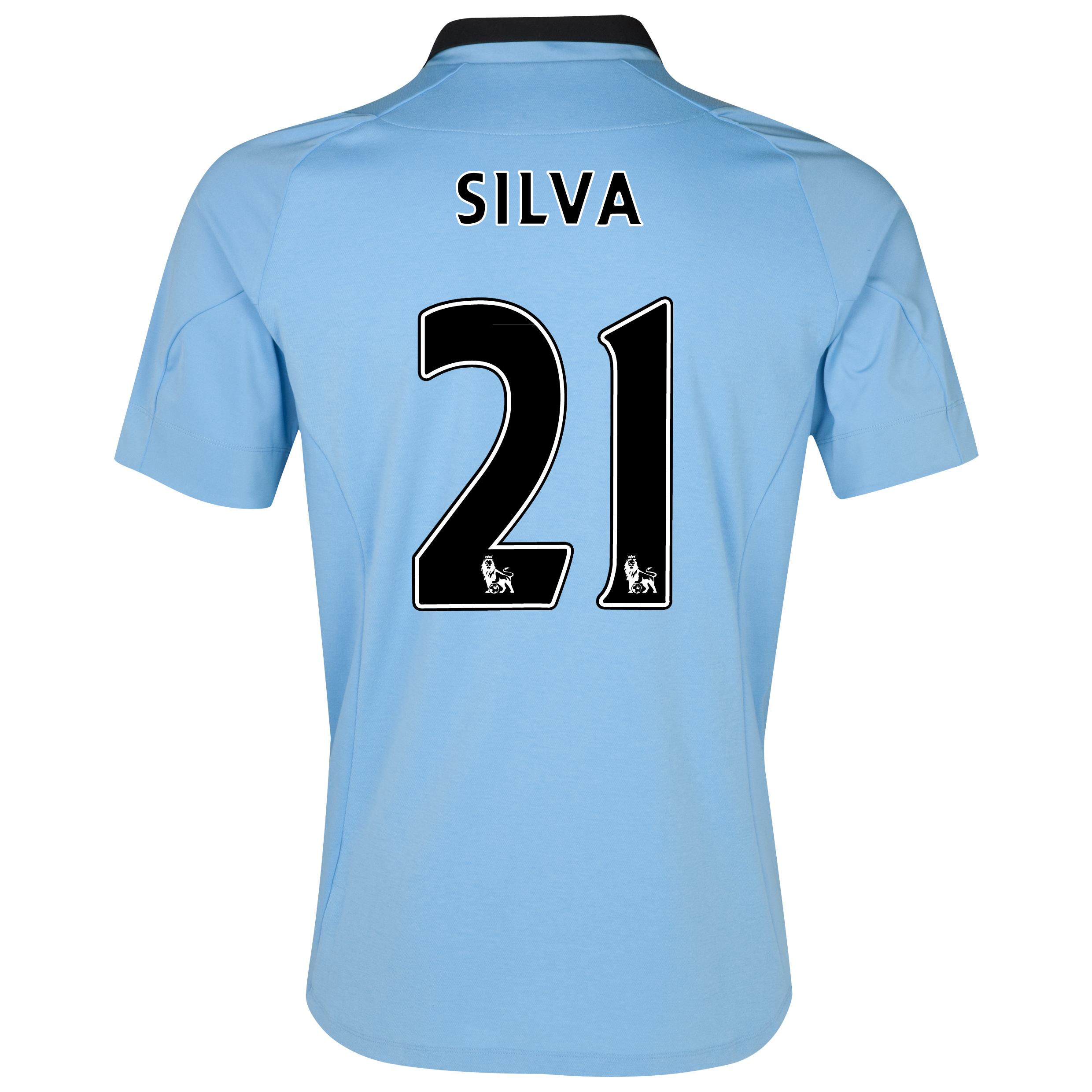 Manchester City Home Shirt 2012/13 with Silva 21 printing