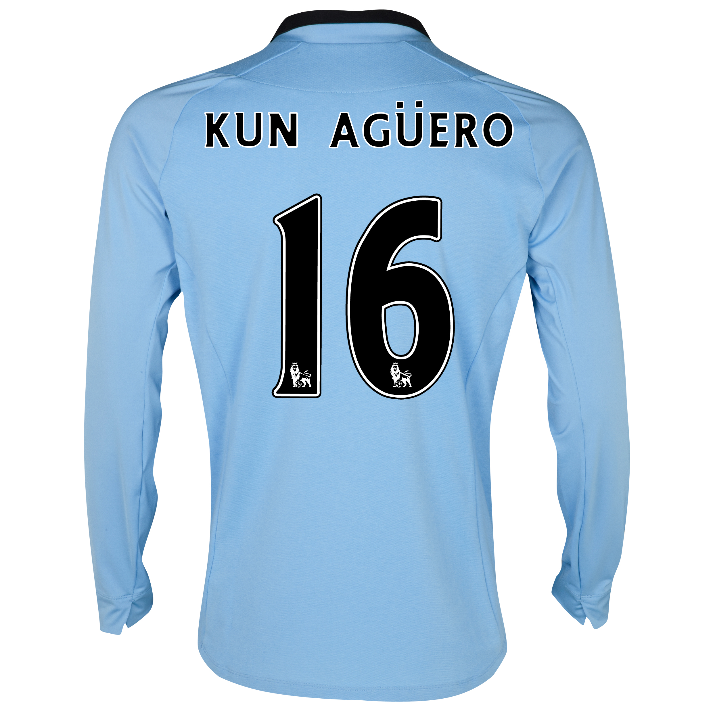 Manchester City Home Shirt 2012/13 - Long Sleeved with Kun Agüero  16 printing