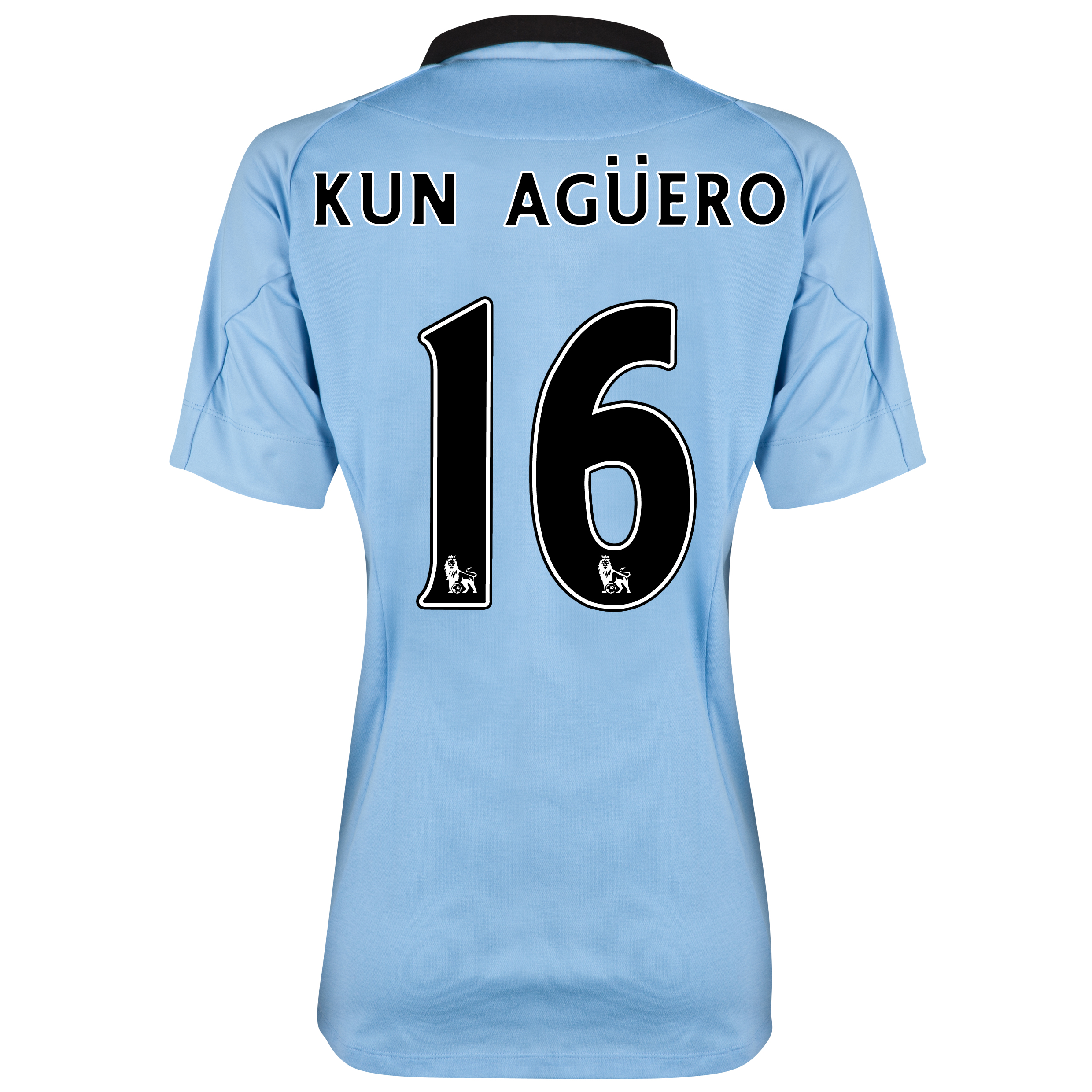Manchester City Home Shirt 2012/13 - Womens with Kun Agüero  16 printing