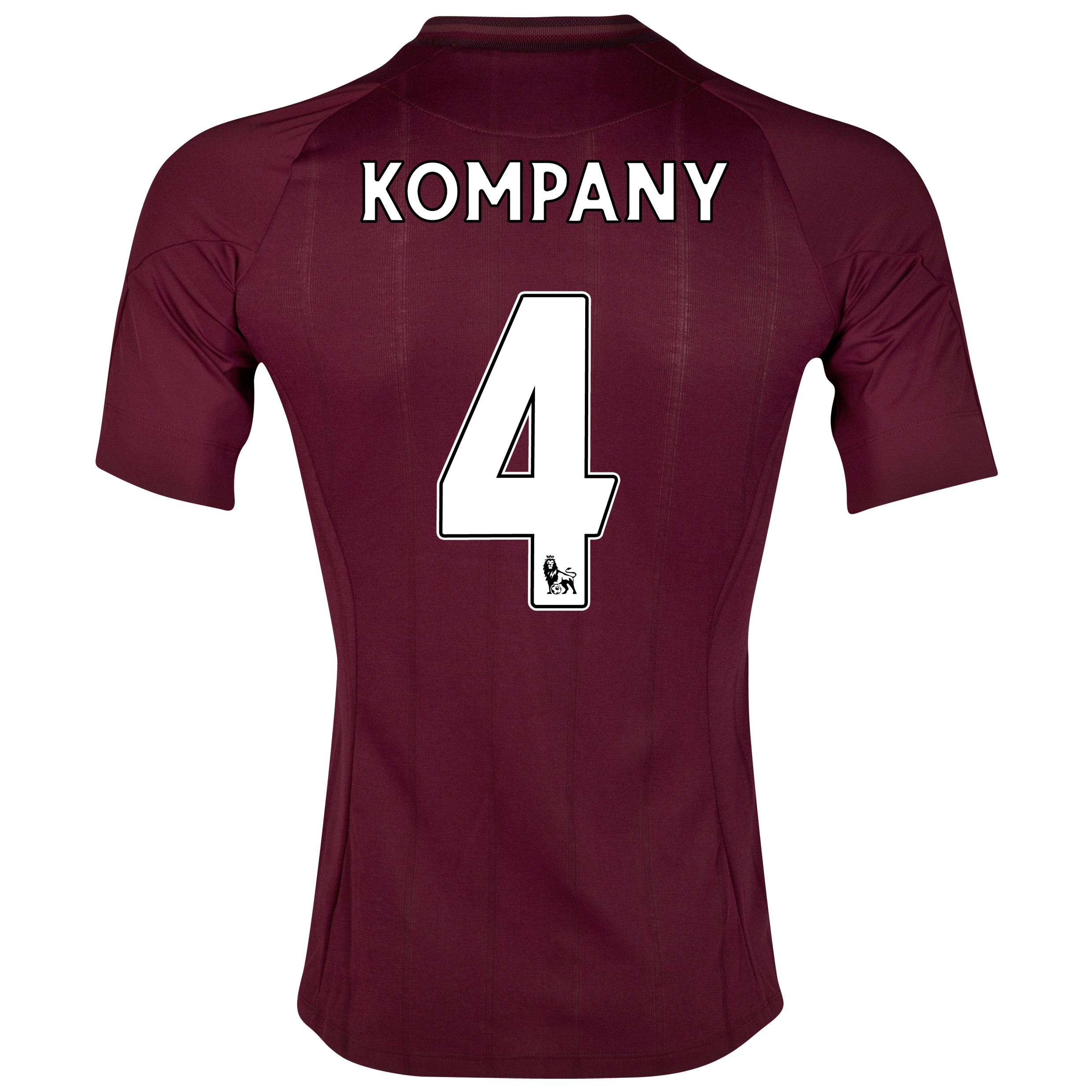 Manchester City Away Shirt 2012/13 with Kompany 4 printing