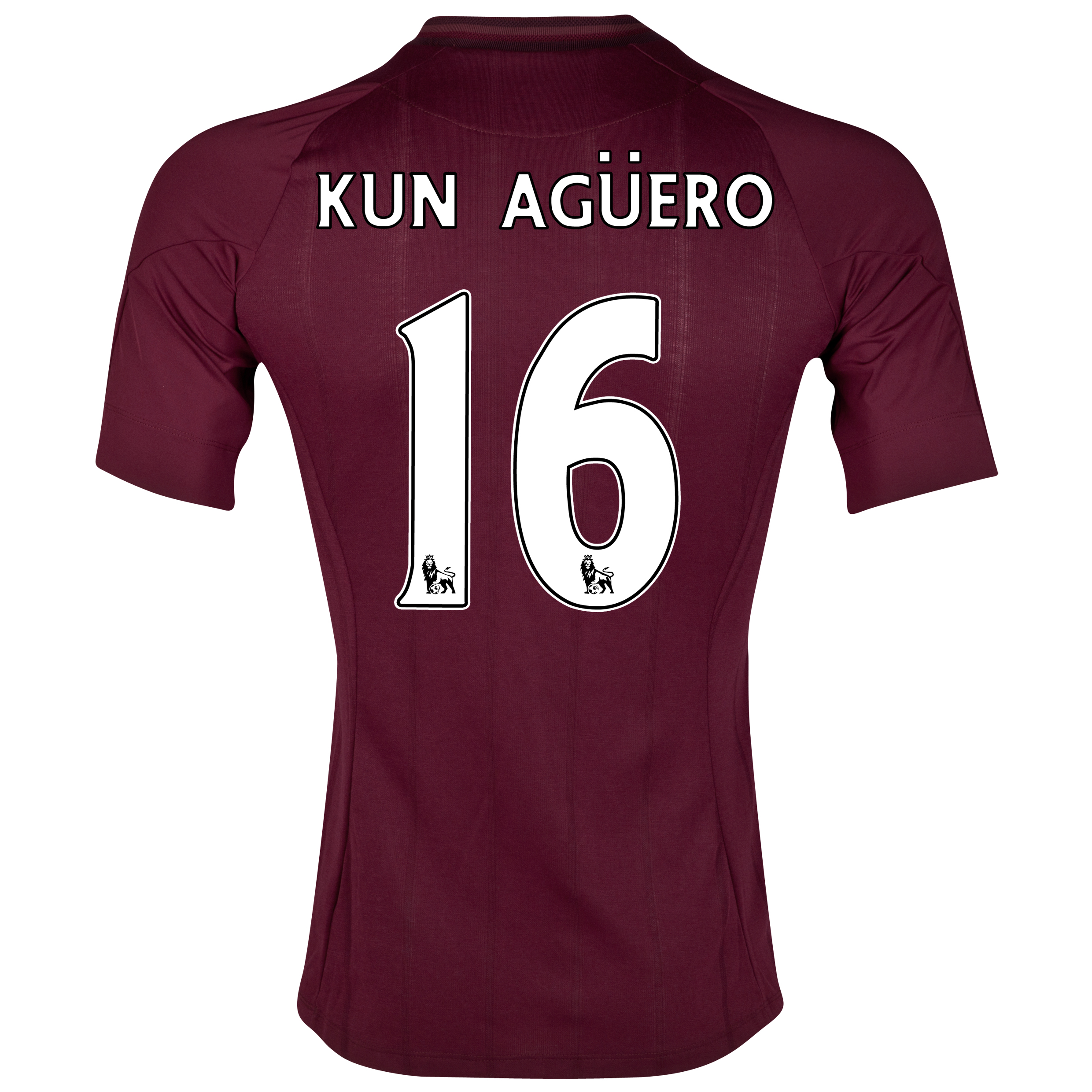 Manchester City Away Shirt 2012/13 with Kun Agüero  16 printing