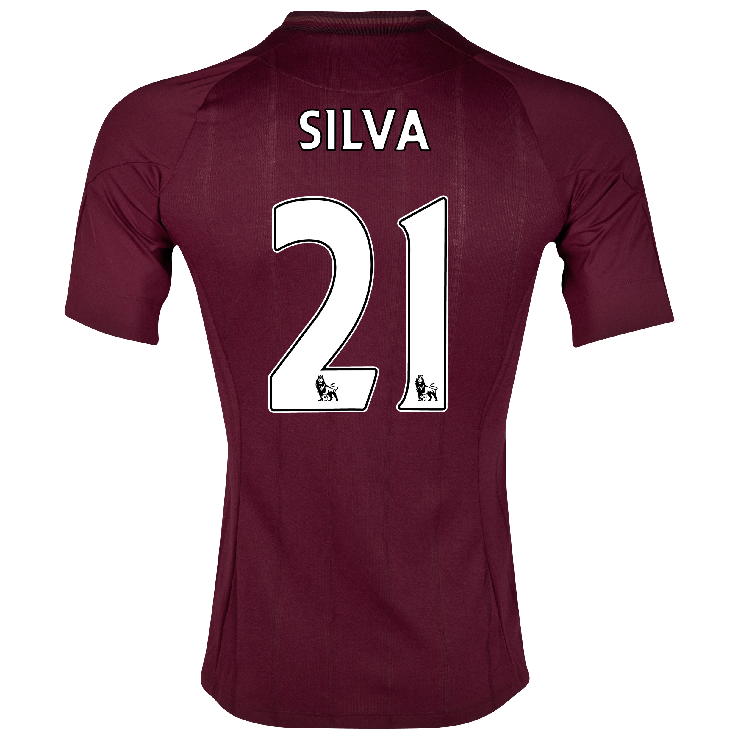 Manchester City Away Shirt 2012/13 with Silva 21 printing
