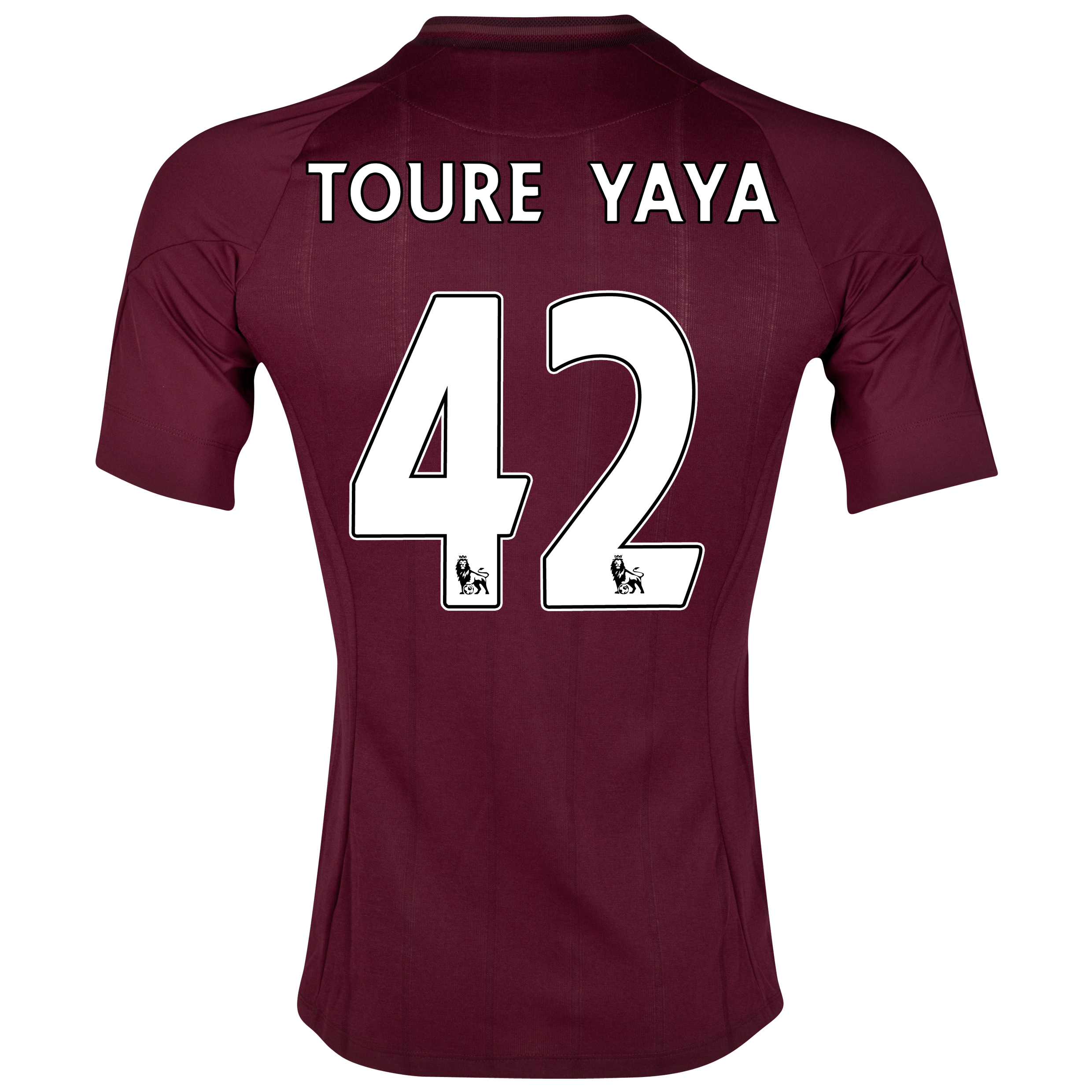 Manchester City Away Shirt 2012/13 with Toure Yaya 42 printing