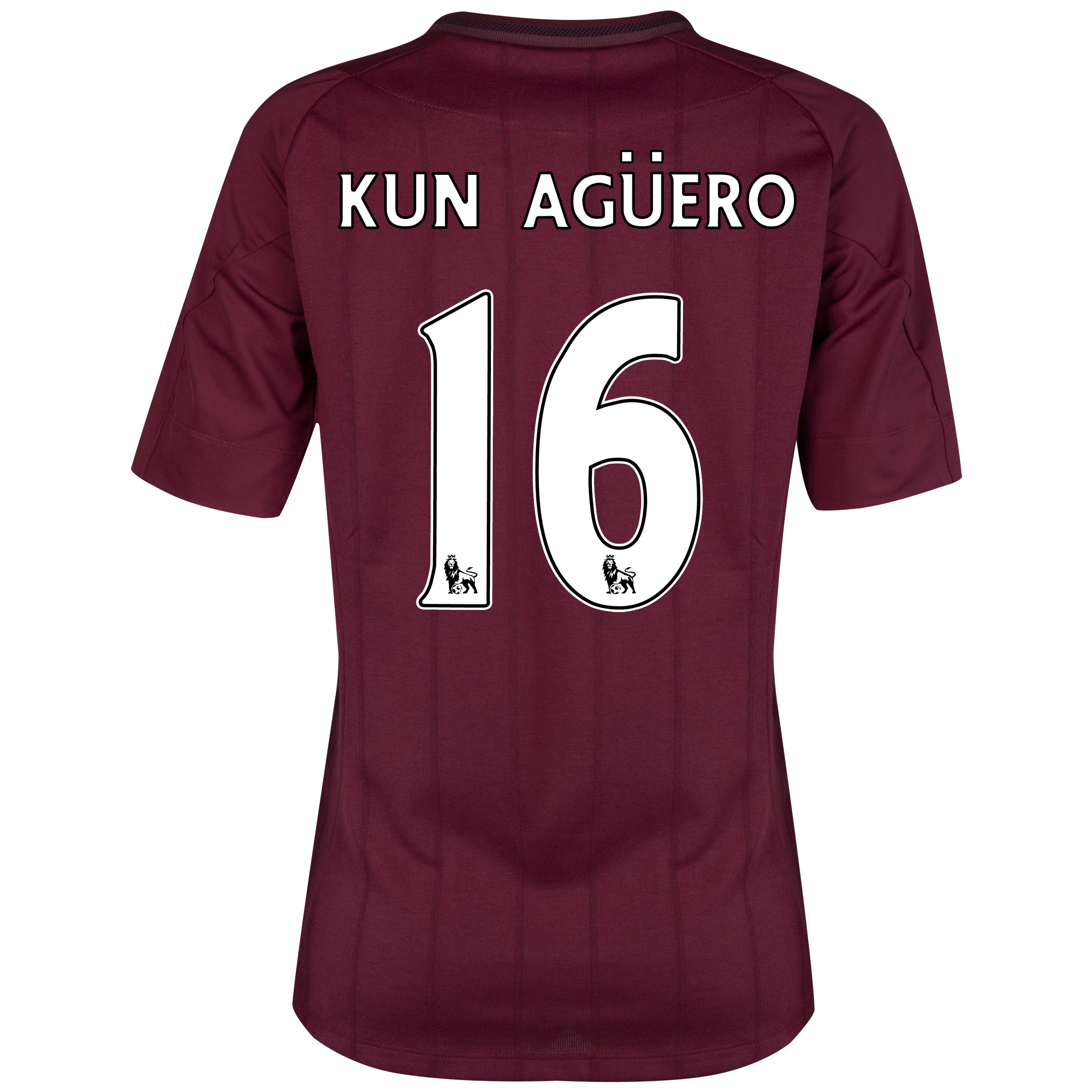 Manchester City Away Shirt 2012/13 - Womens with Kun Ag&uuml;ero  16 printing