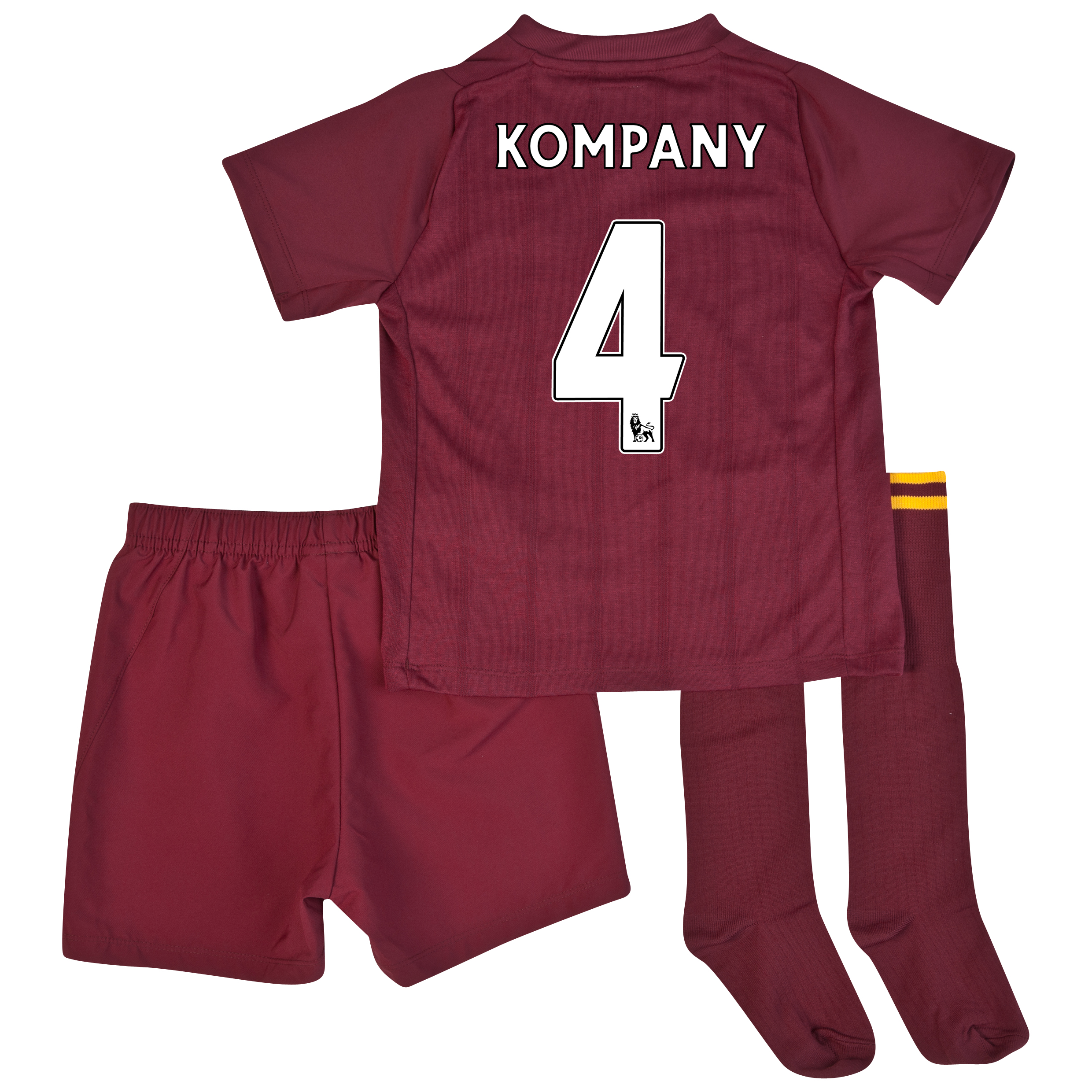 Manchester City Away Infant Kit 2012/13 with Kompany 4 printing
