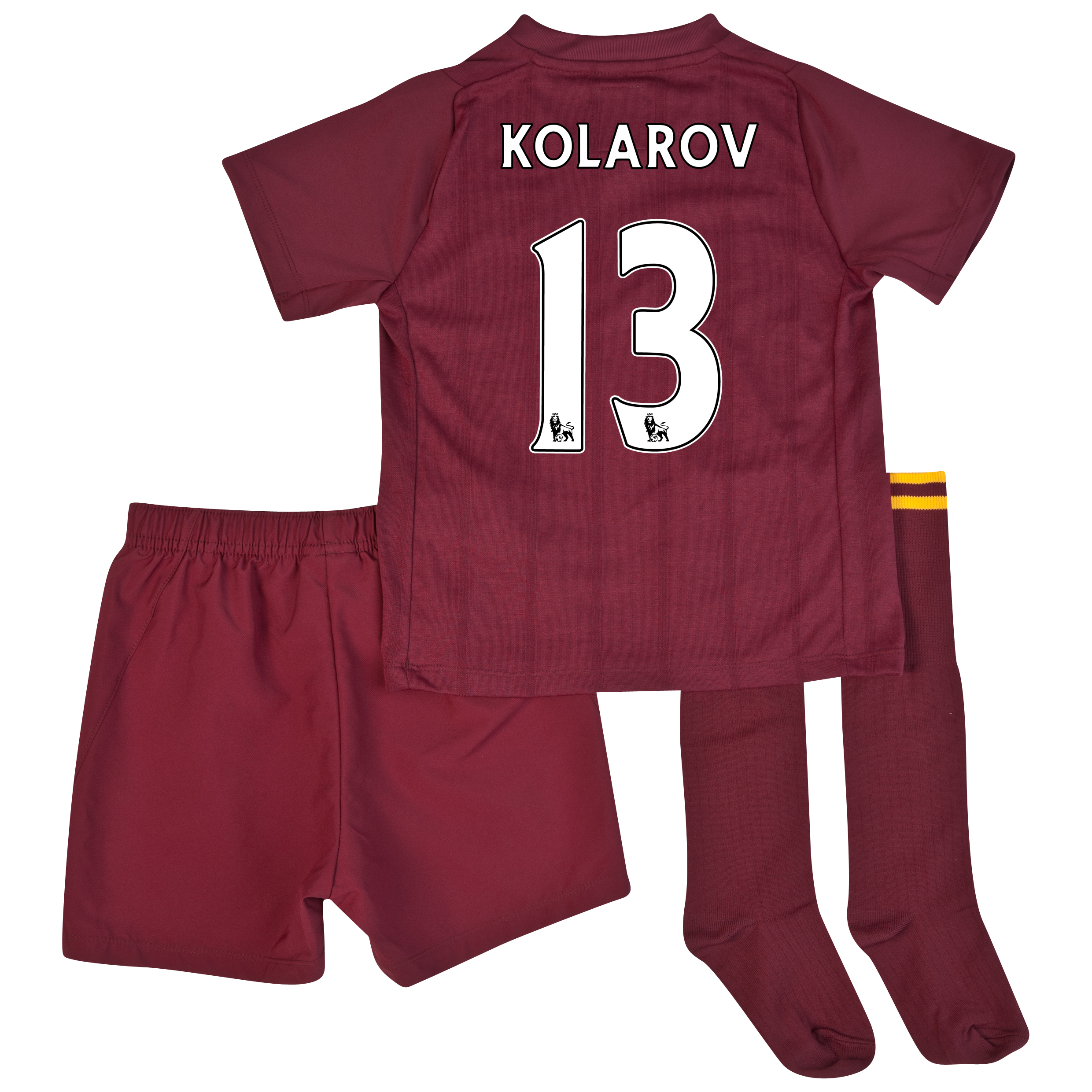 Manchester City Away Infant Kit 2012/13 with Kolarov 13 printing