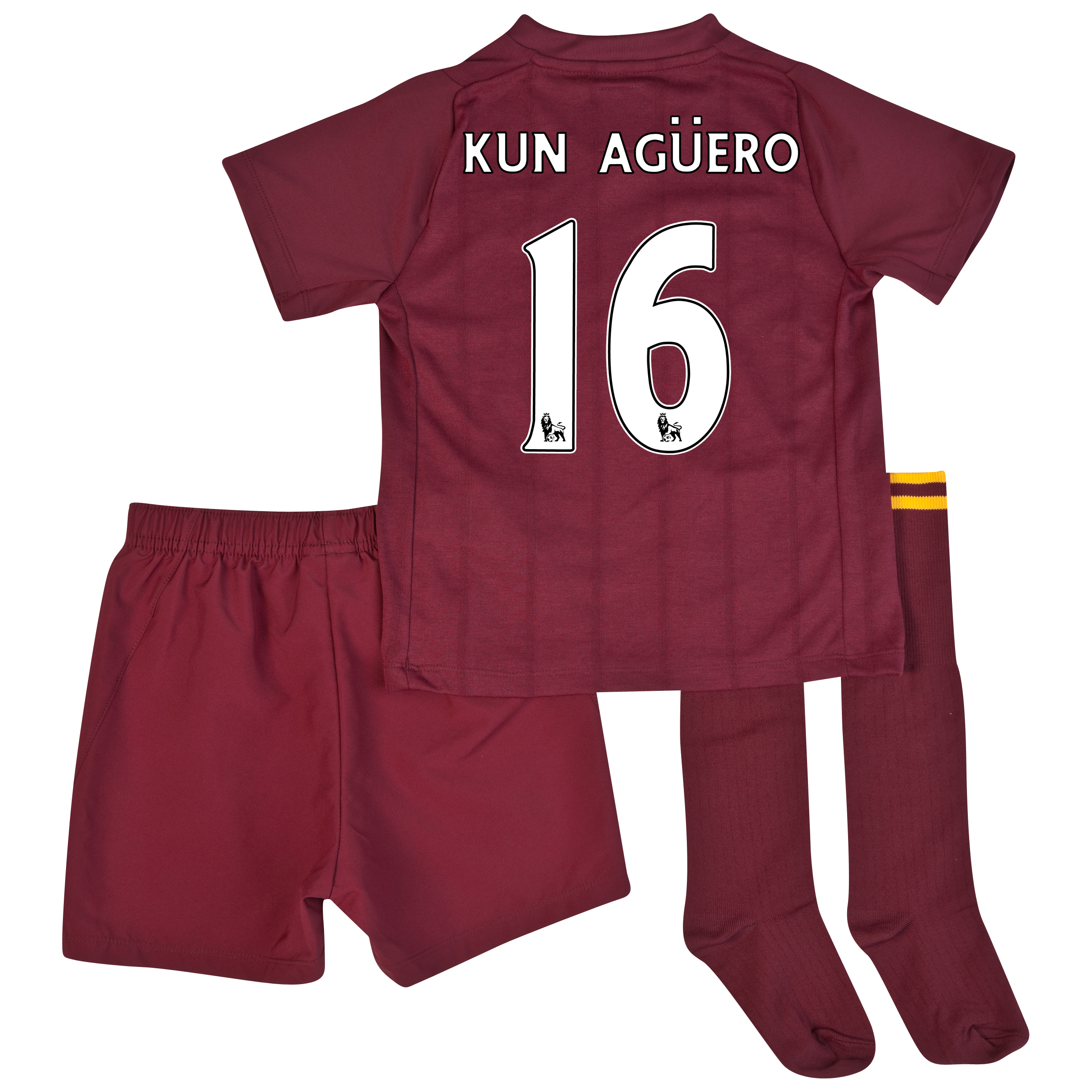 Manchester City Away Infant Kit 2012/13 with Kun Agero  16 printing