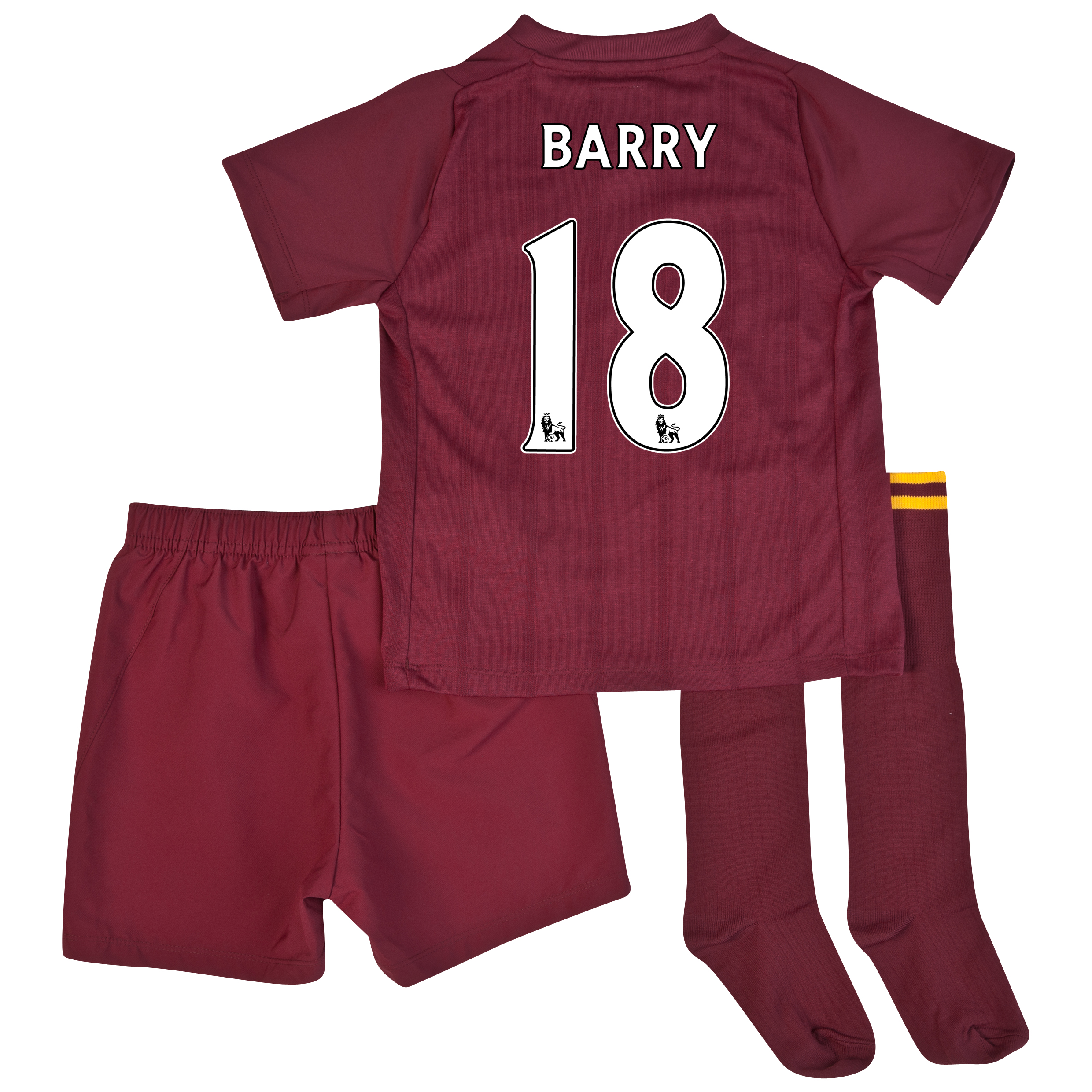 Manchester City Away Infant Kit 2012/13 with Barry 18 printing