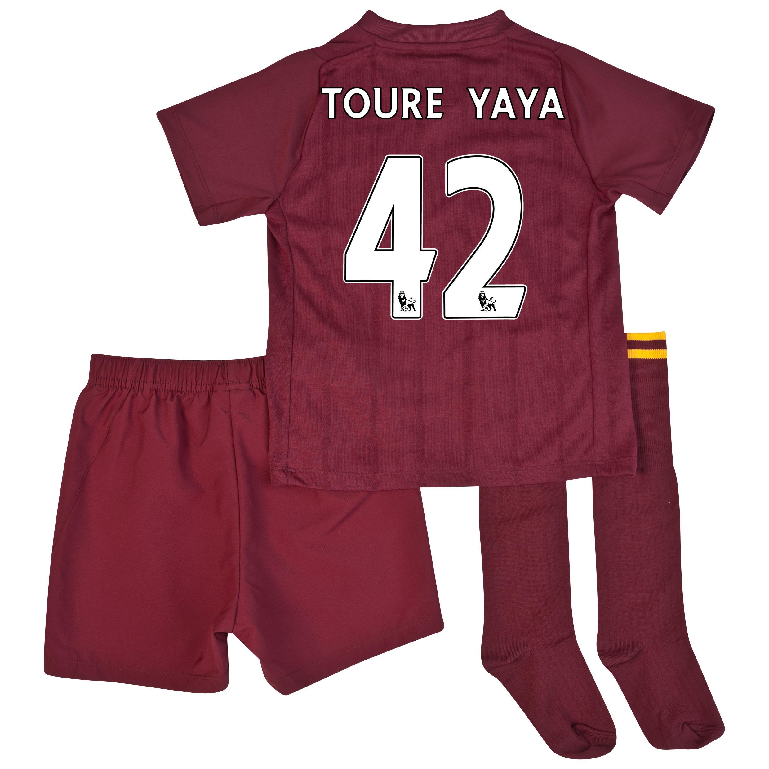 Manchester City Away Infant Kit 2012/13 with Toure Yaya 42 printing