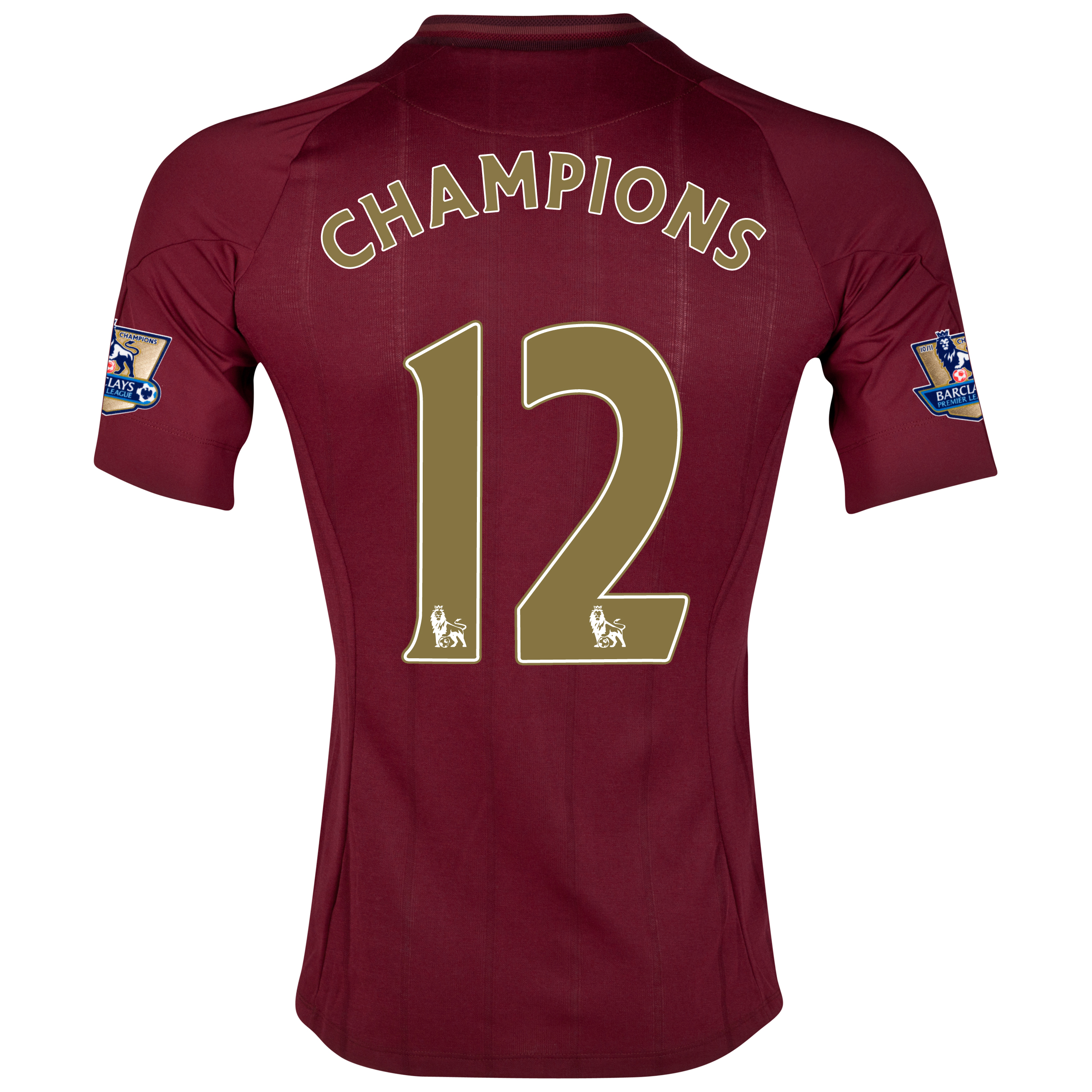 Manchester City Away Shirt 2012/13 with Champions 12 printing and Premier League Champions Badges