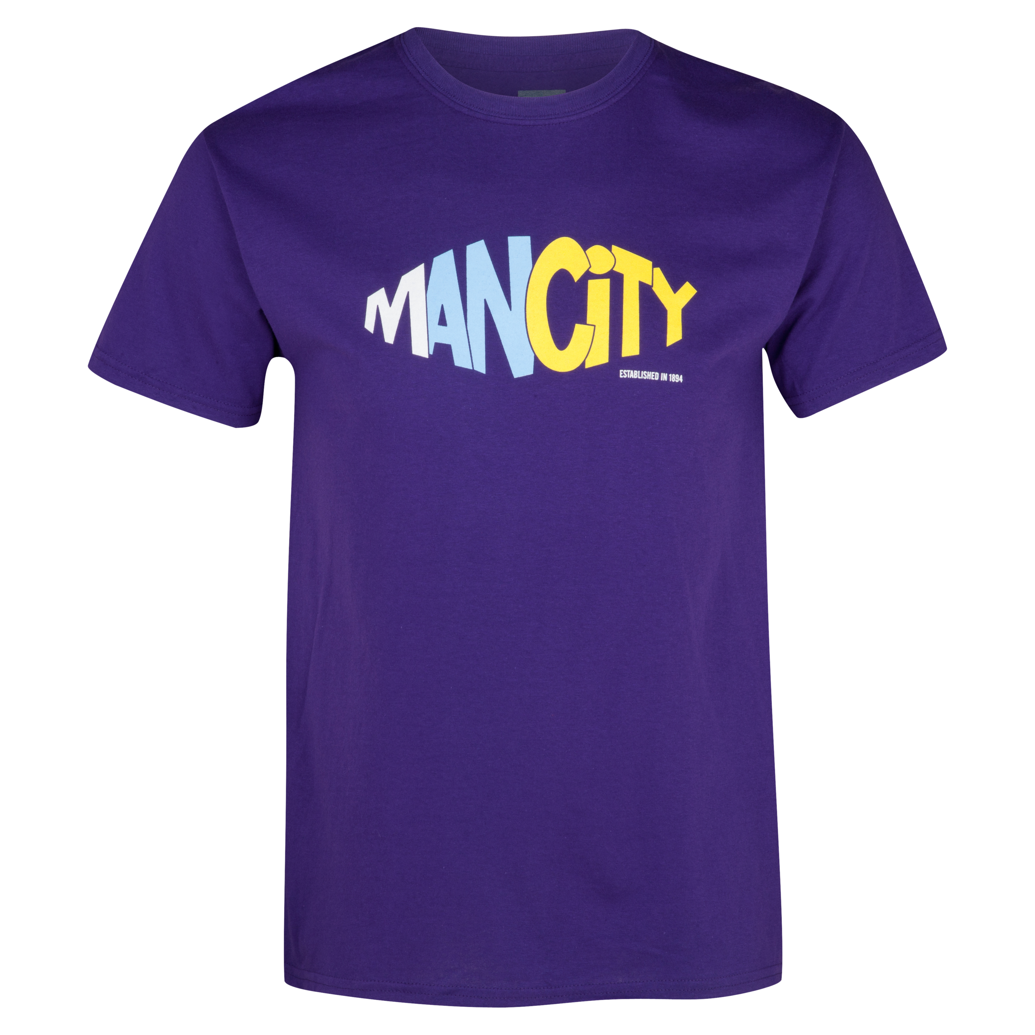 Manchester City 2for£20 Tri T-Shirt - Purple