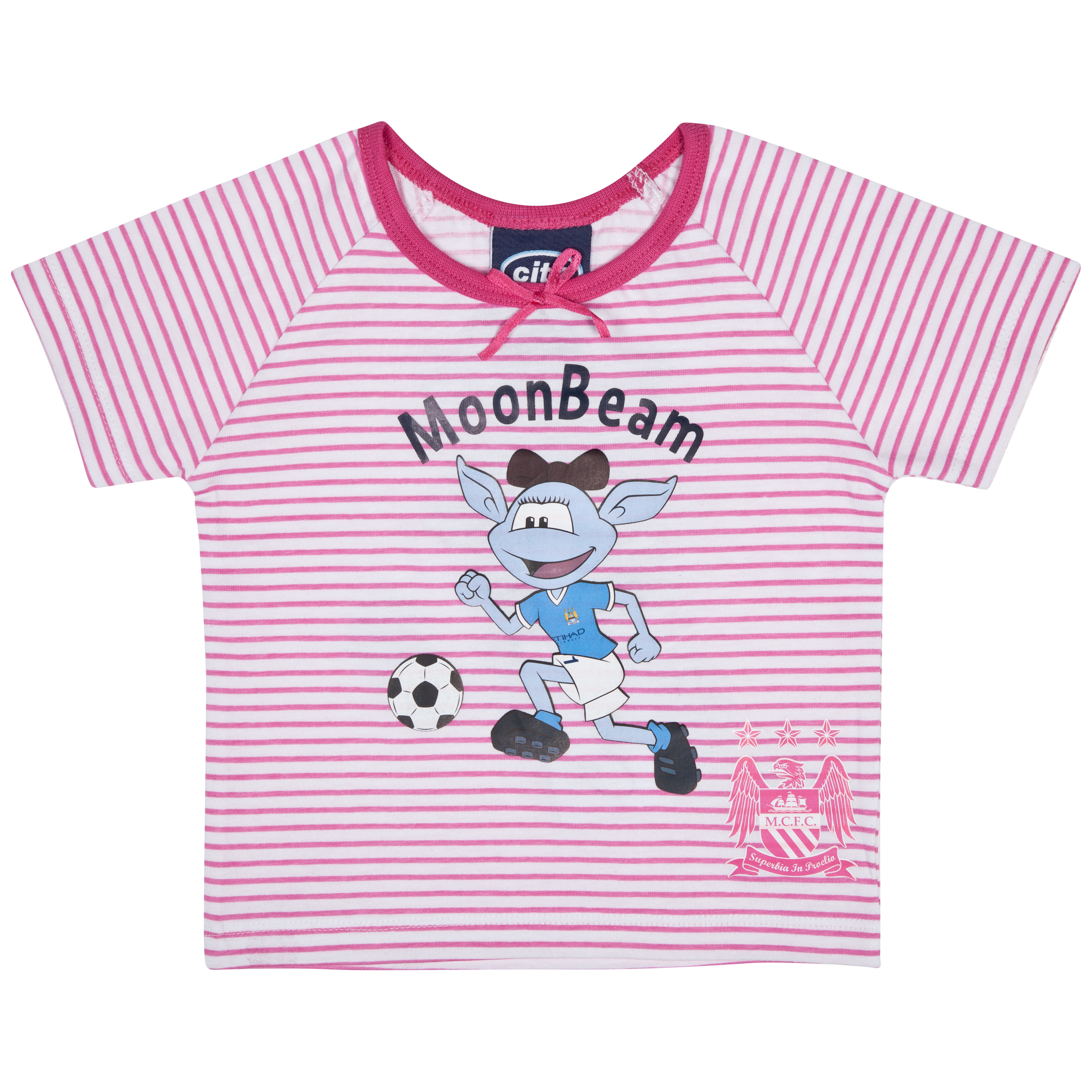 Manchester City Reverse T-Shirt - Pink/White - Baby
