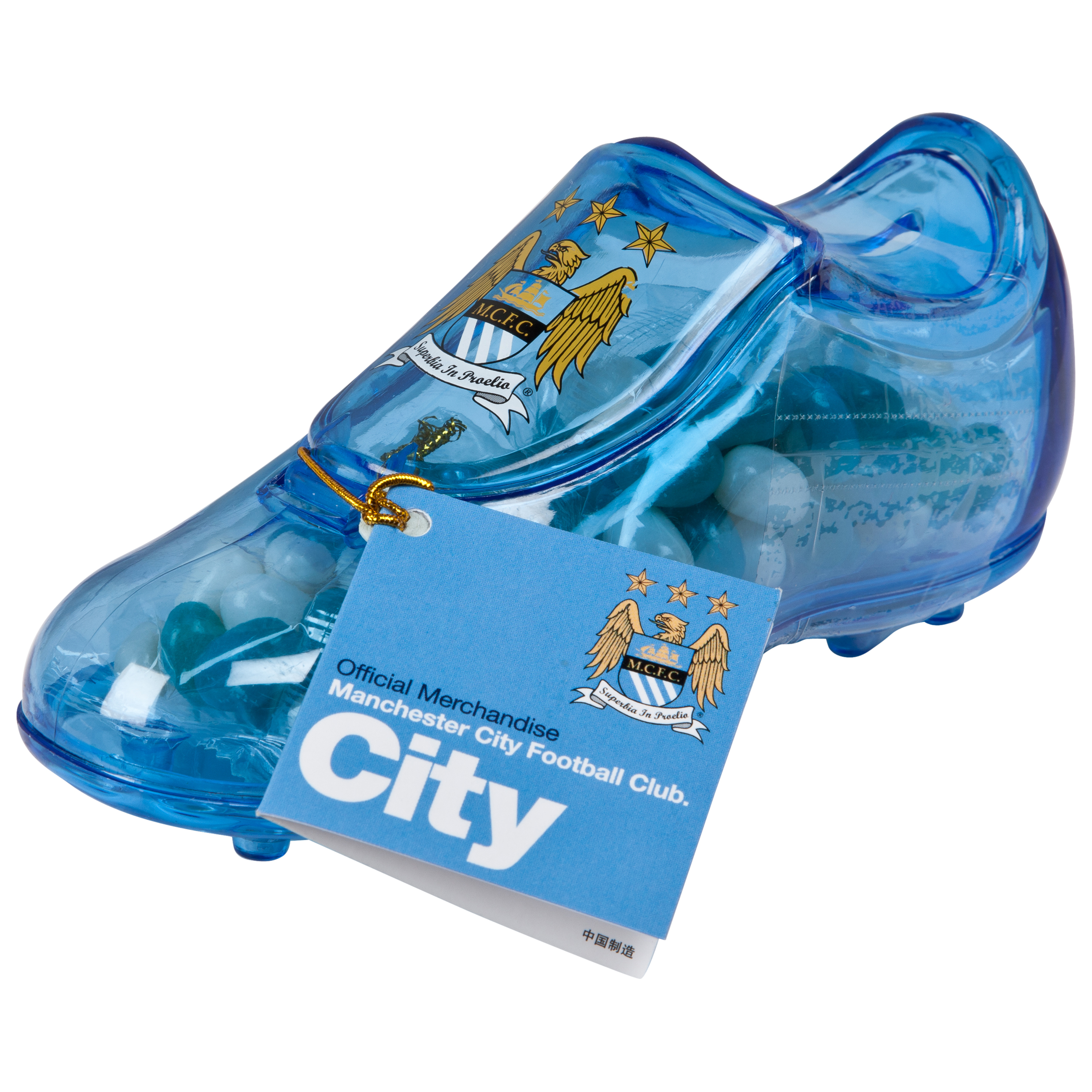 Manchester City Football Boot filled with Jelly Beans