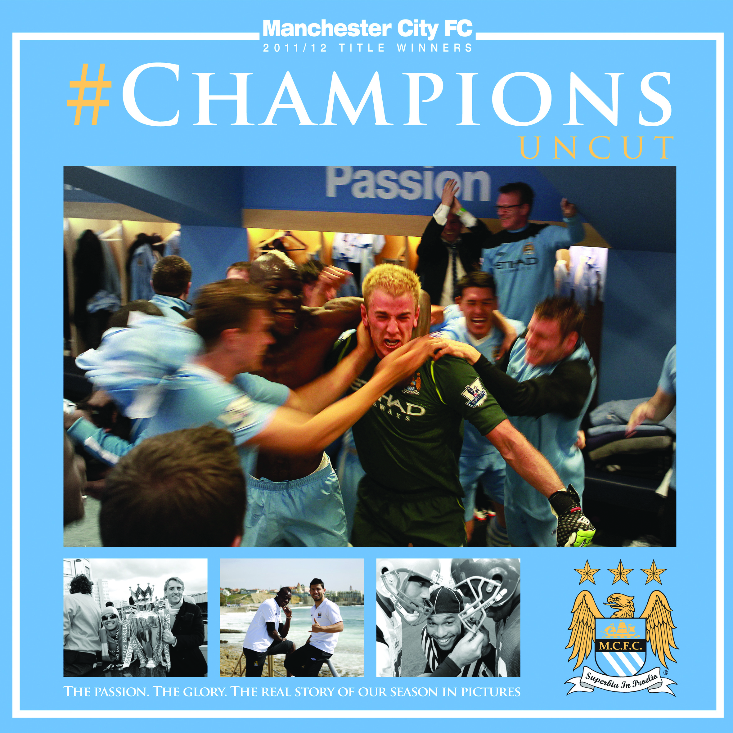 Manchester City #Champions Uncut Hardback Book