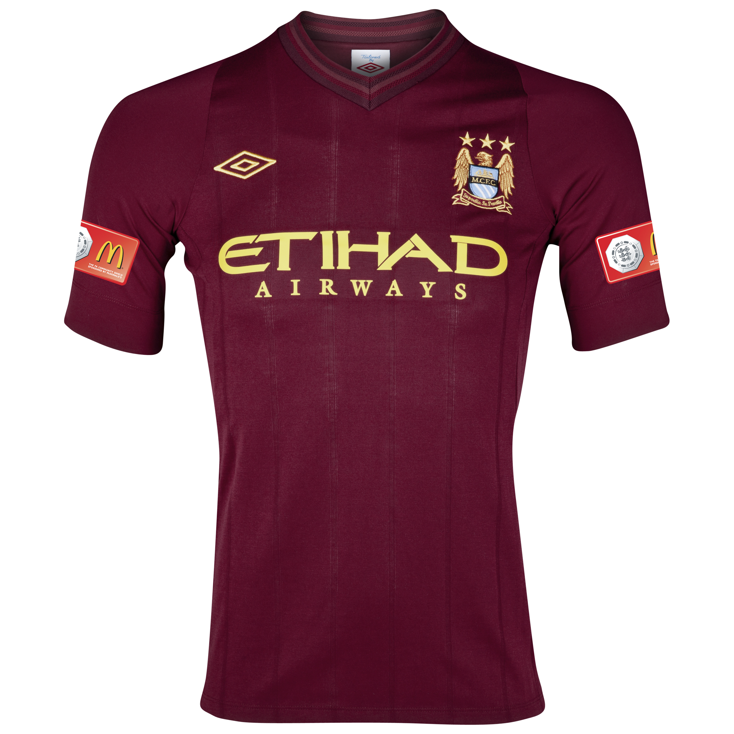 Manchester City Away Shirt 2012/13 Including FA Community Shield Badge