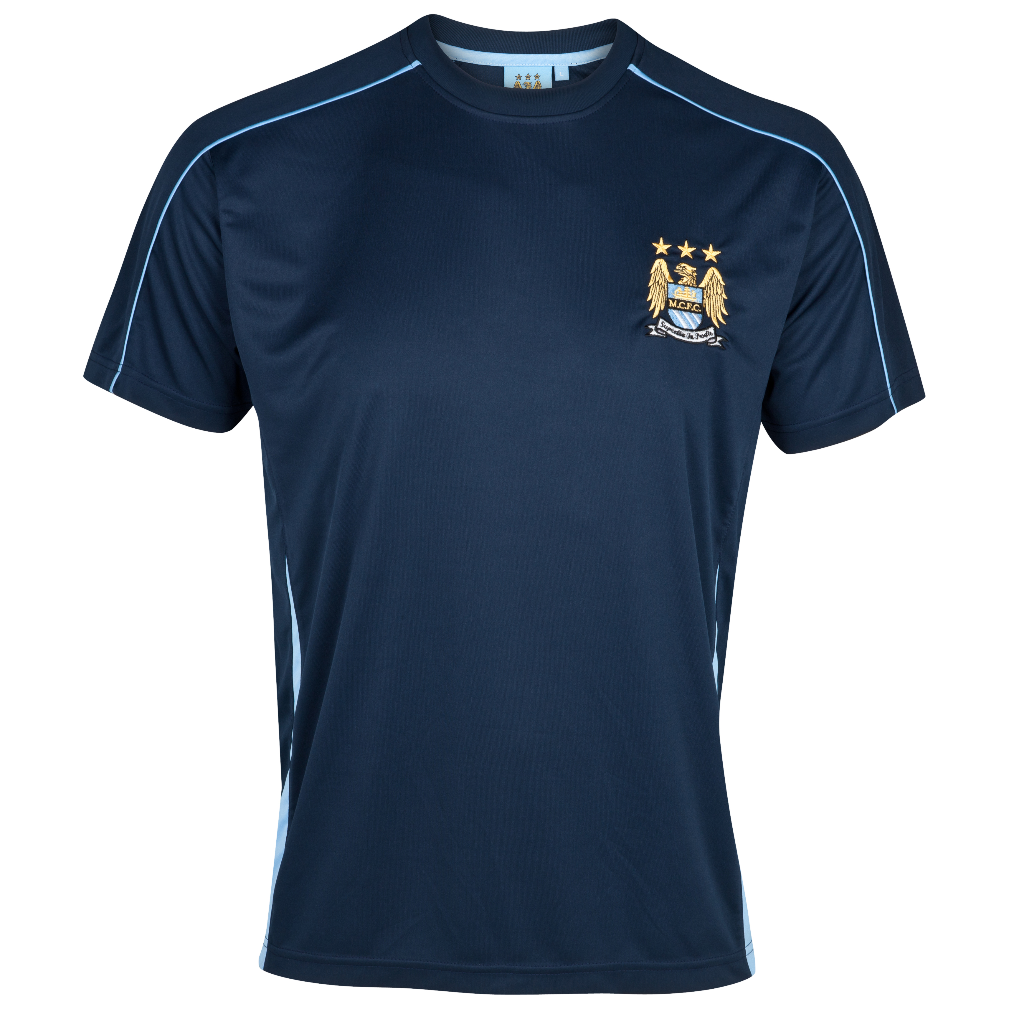 Manchester City Essential Sheen T-Shirt - Navy