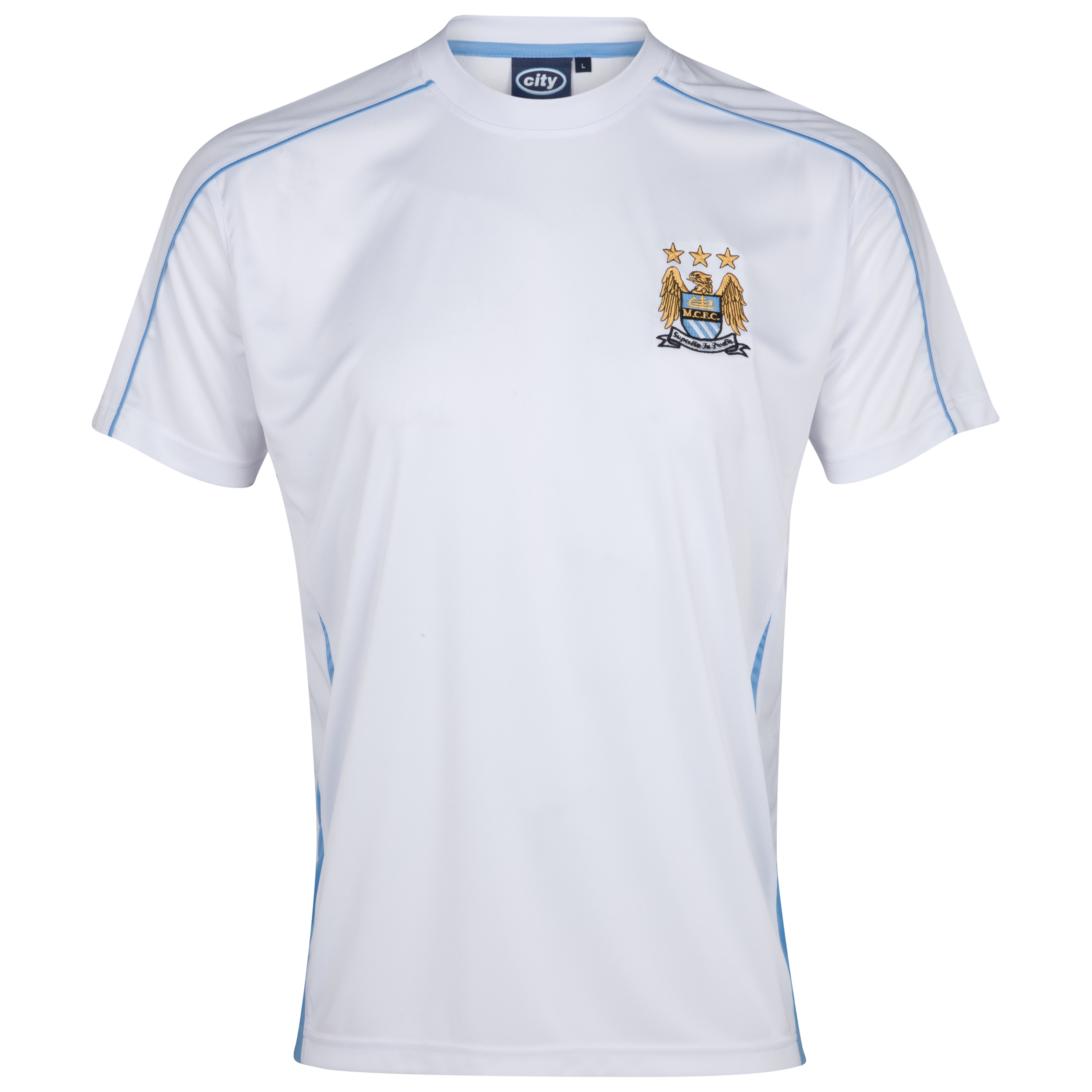 Manchester City Essential Sheen T-Shirt - White