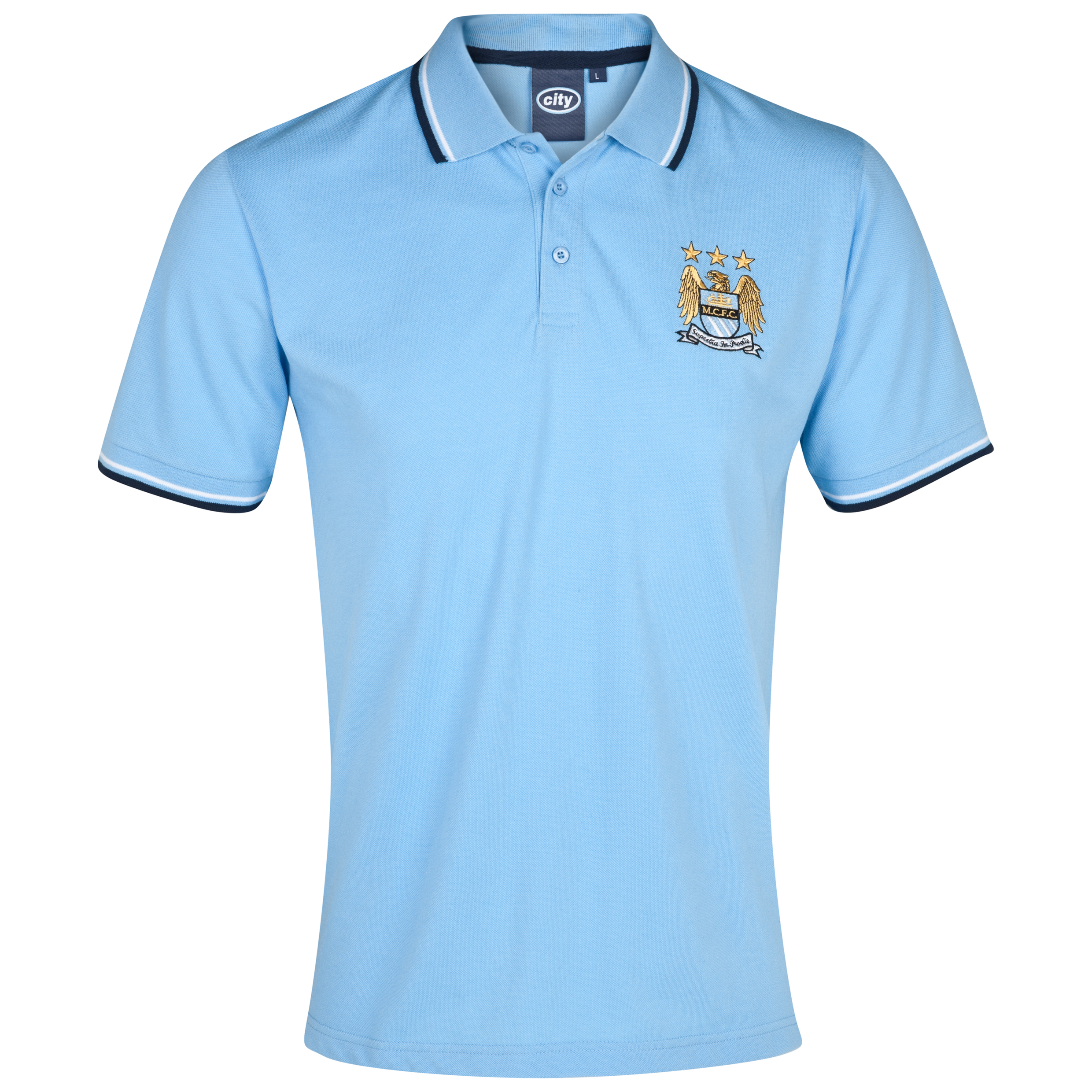 Manchester City Essential Bridge Polo Top - Sky