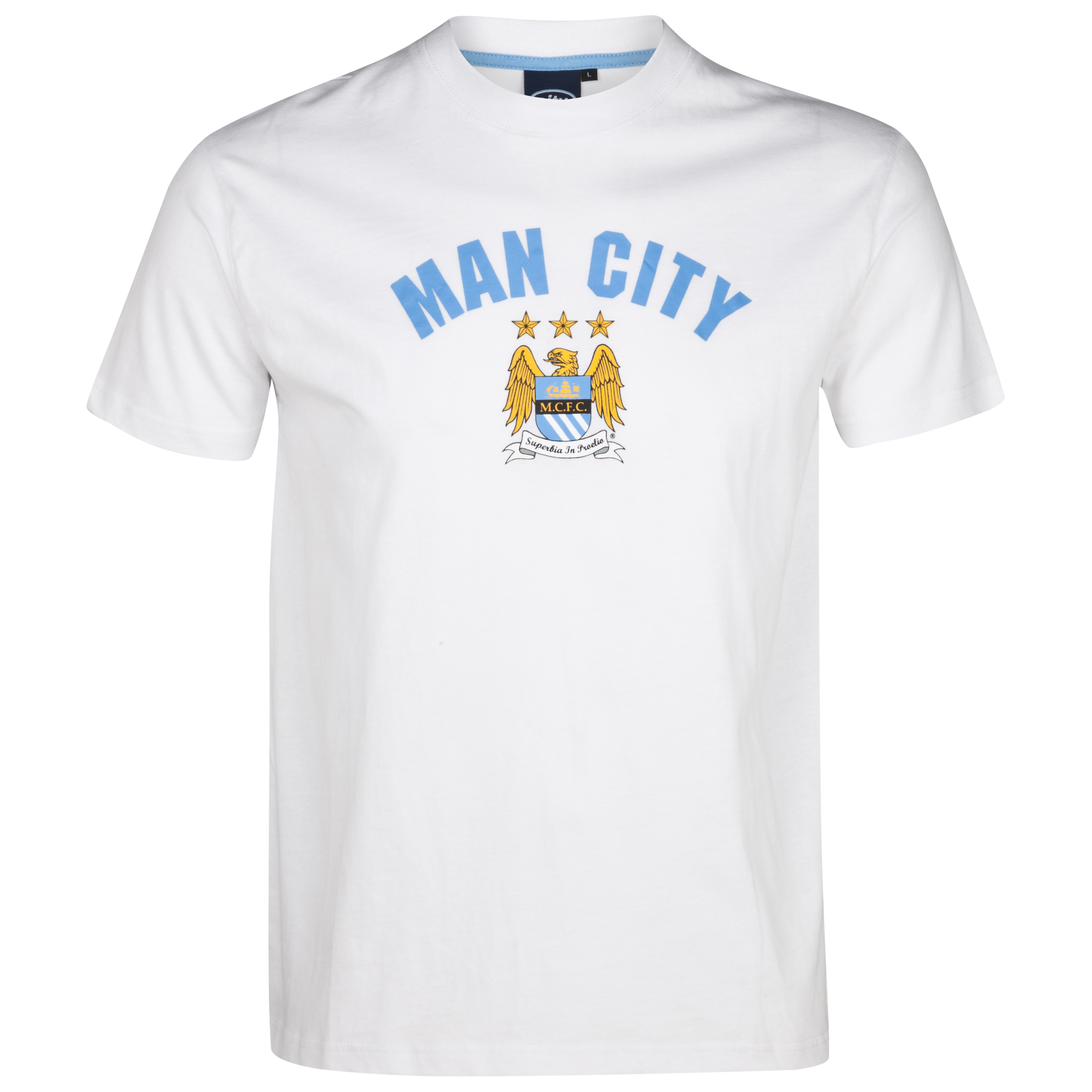 Manchester City Essential Staley T-Shirt - White - Older Boys