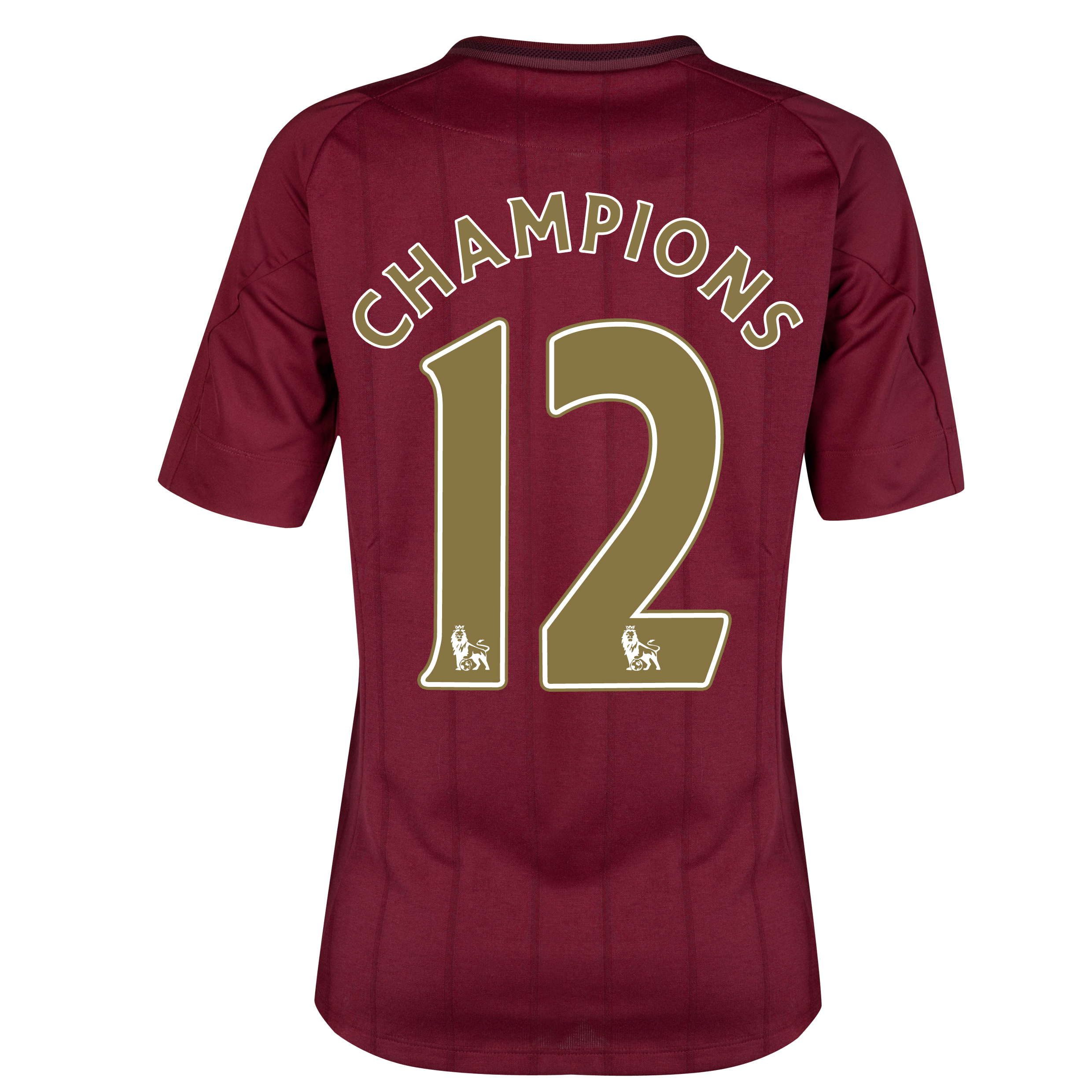Manchester City Away Shirt 2012/13 - Womens with Champions 12 printing
