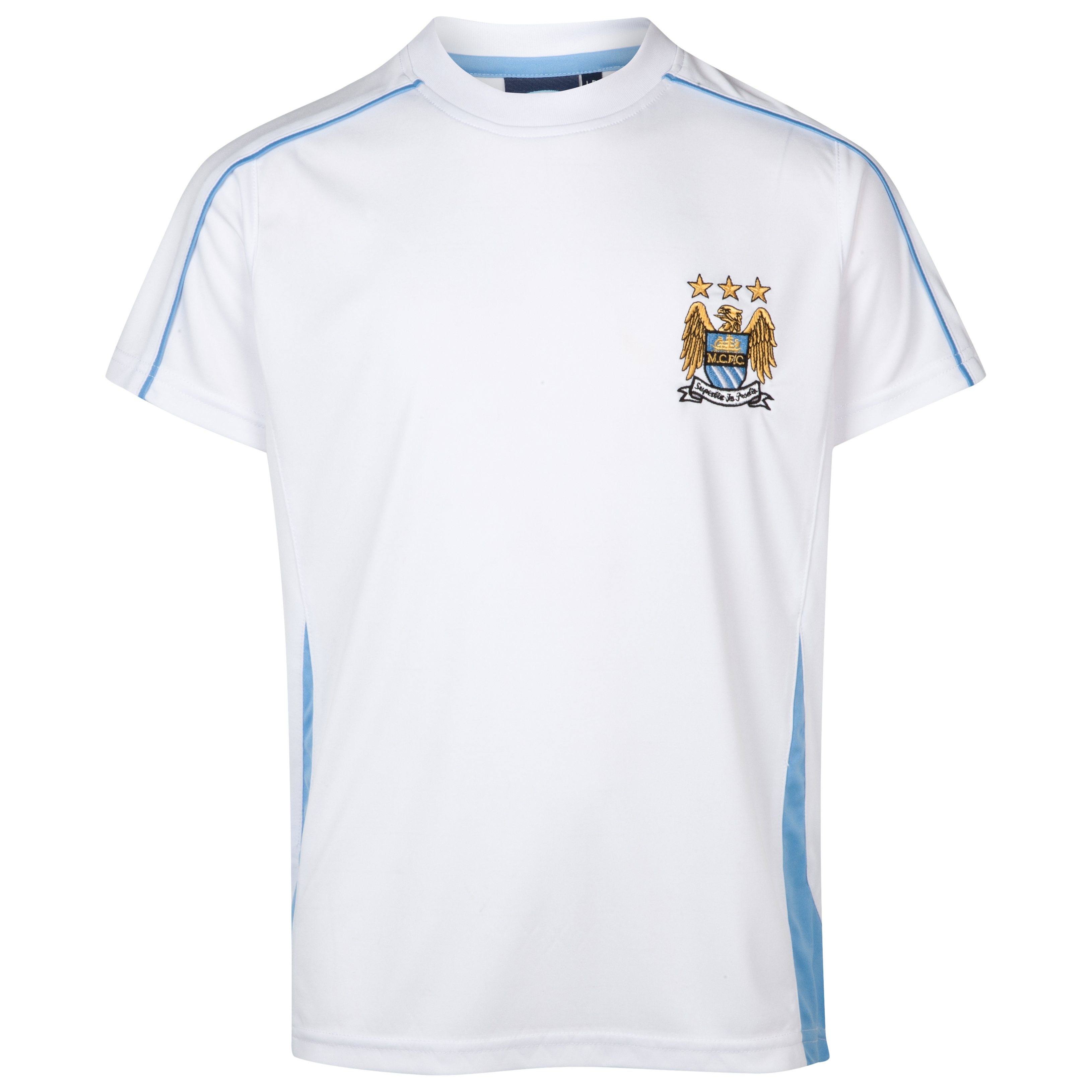 Manchester City Essential Sheen T-Shirt - White - Older Boys