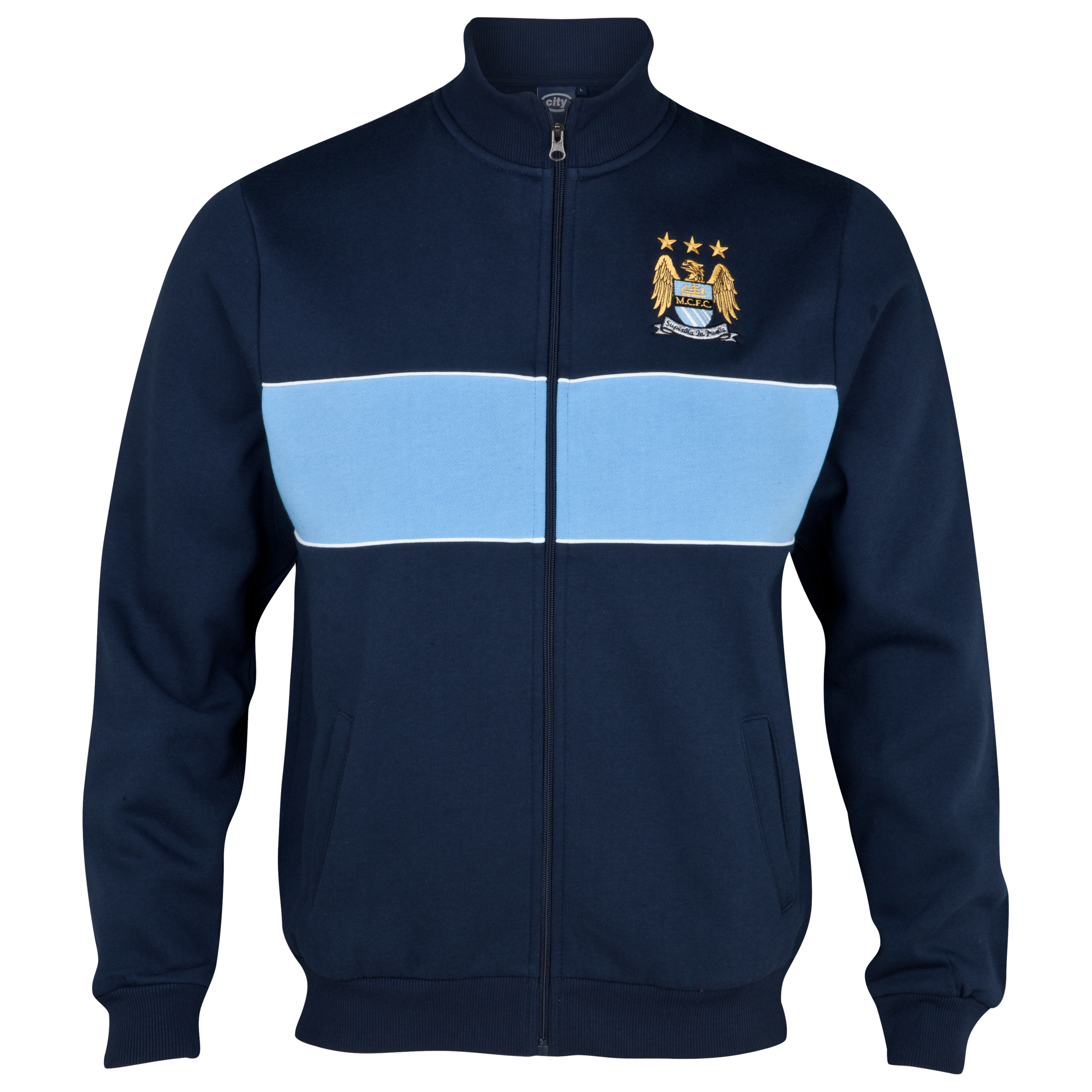 Manchester City Essential Chase Track Top - Navy/Sky - Older Boys