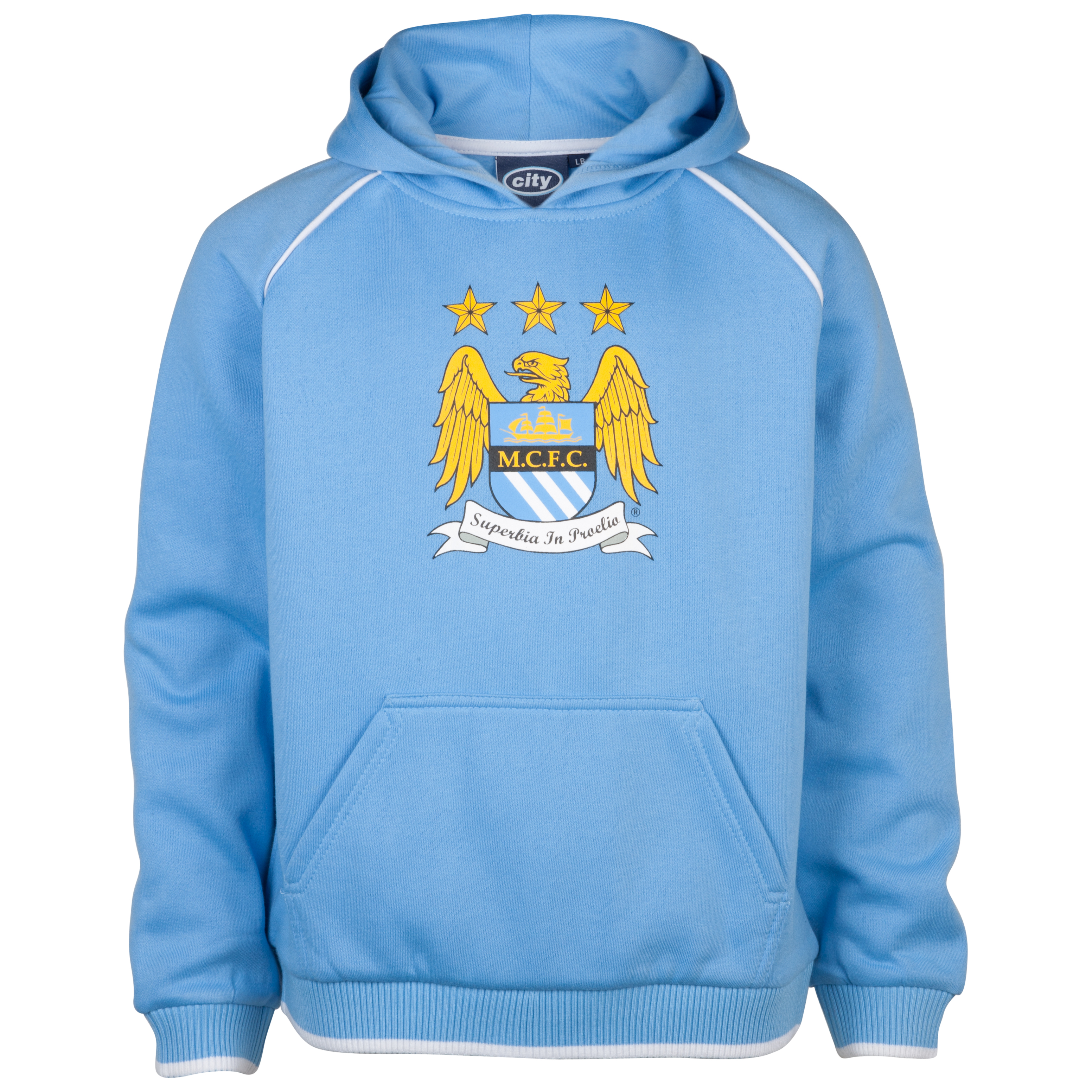 Manchester City Essential Luna Hoodie - Sky - Older Boys