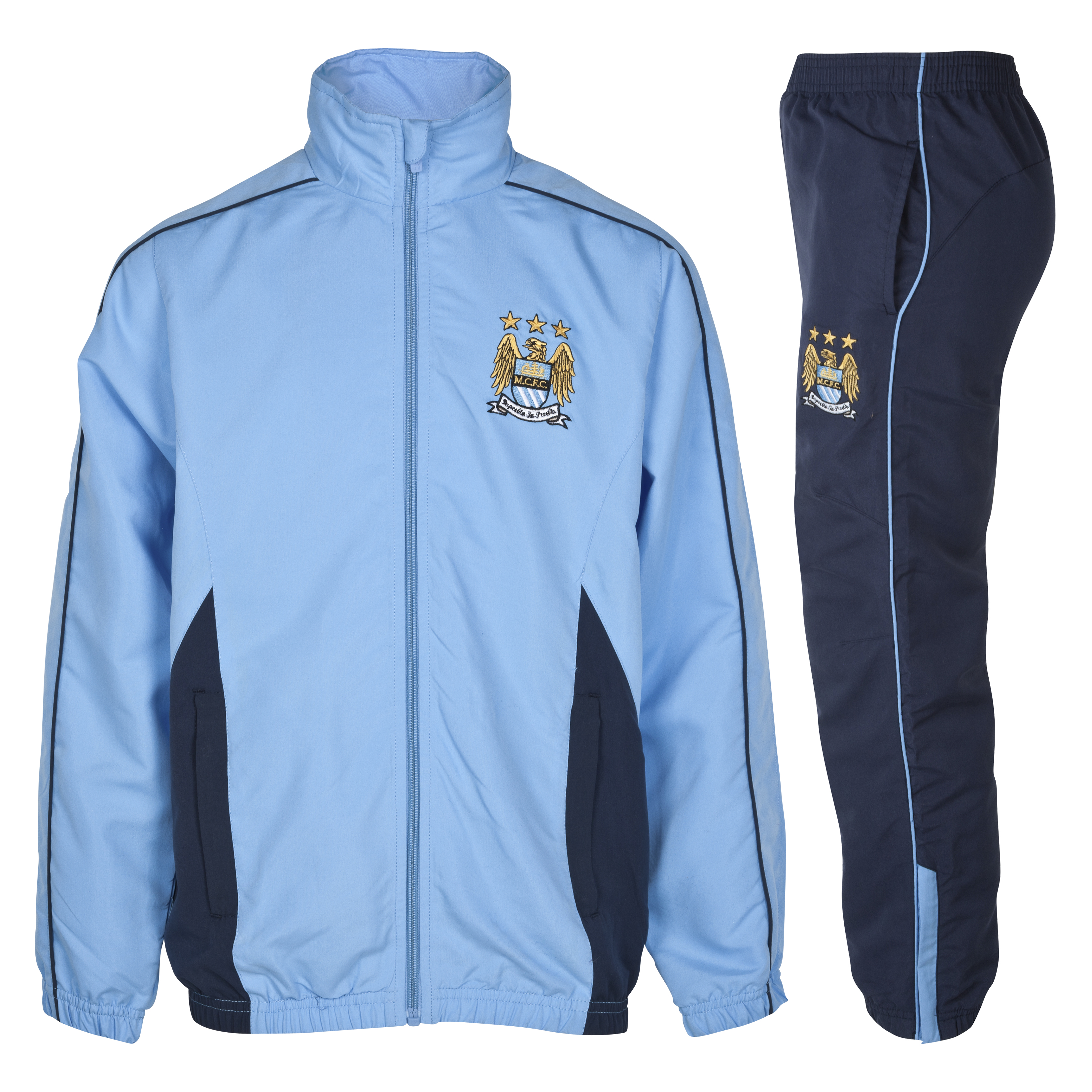Manchester City Essential Compete Tracksuit - Navy - Older Boys