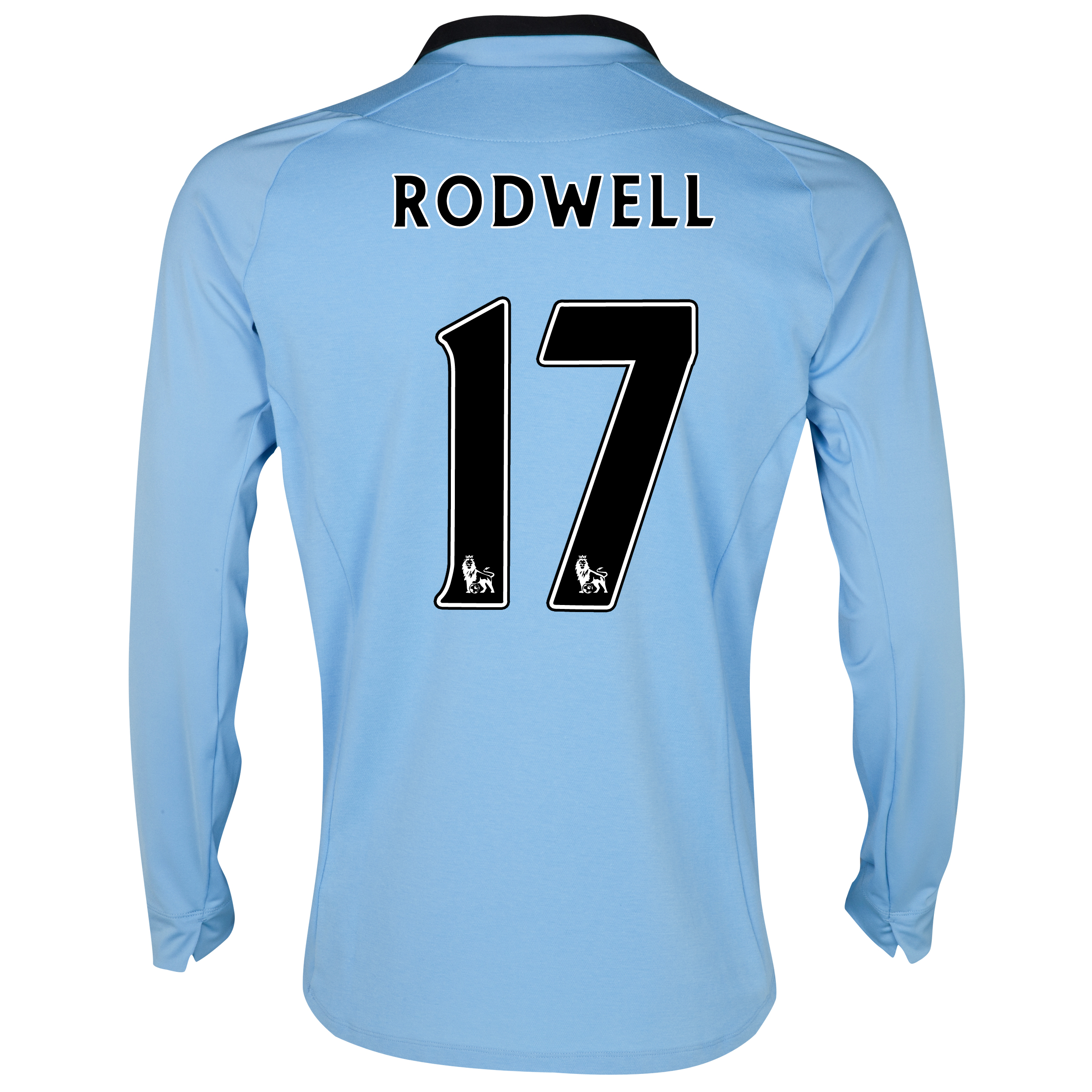 Manchester City Home Shirt 2012/13 - Long Sleeved - Junior with Rodwell 17 printing