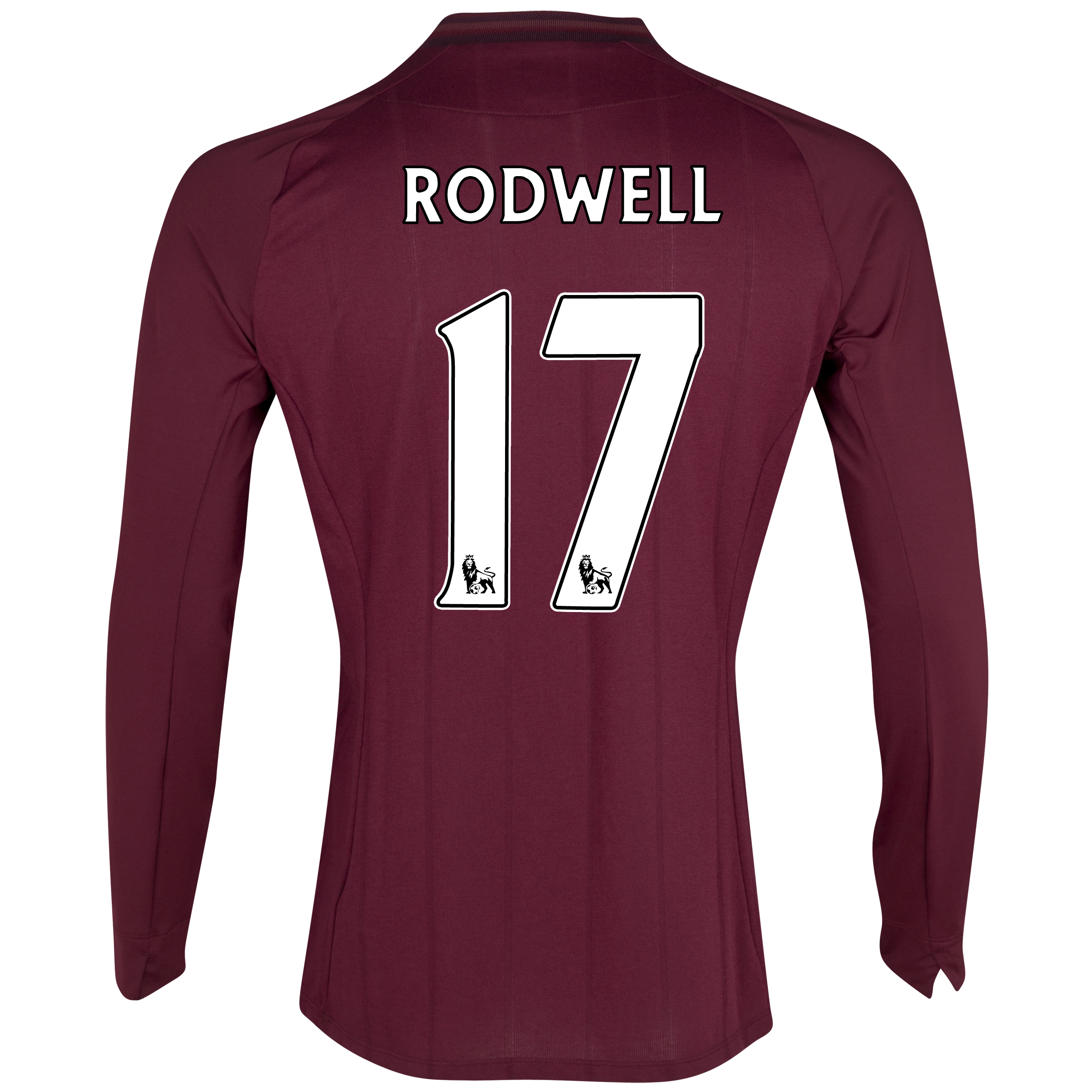Manchester City Away Shirt 2012/13 - Long Sleeved with Rodwell 17 printing