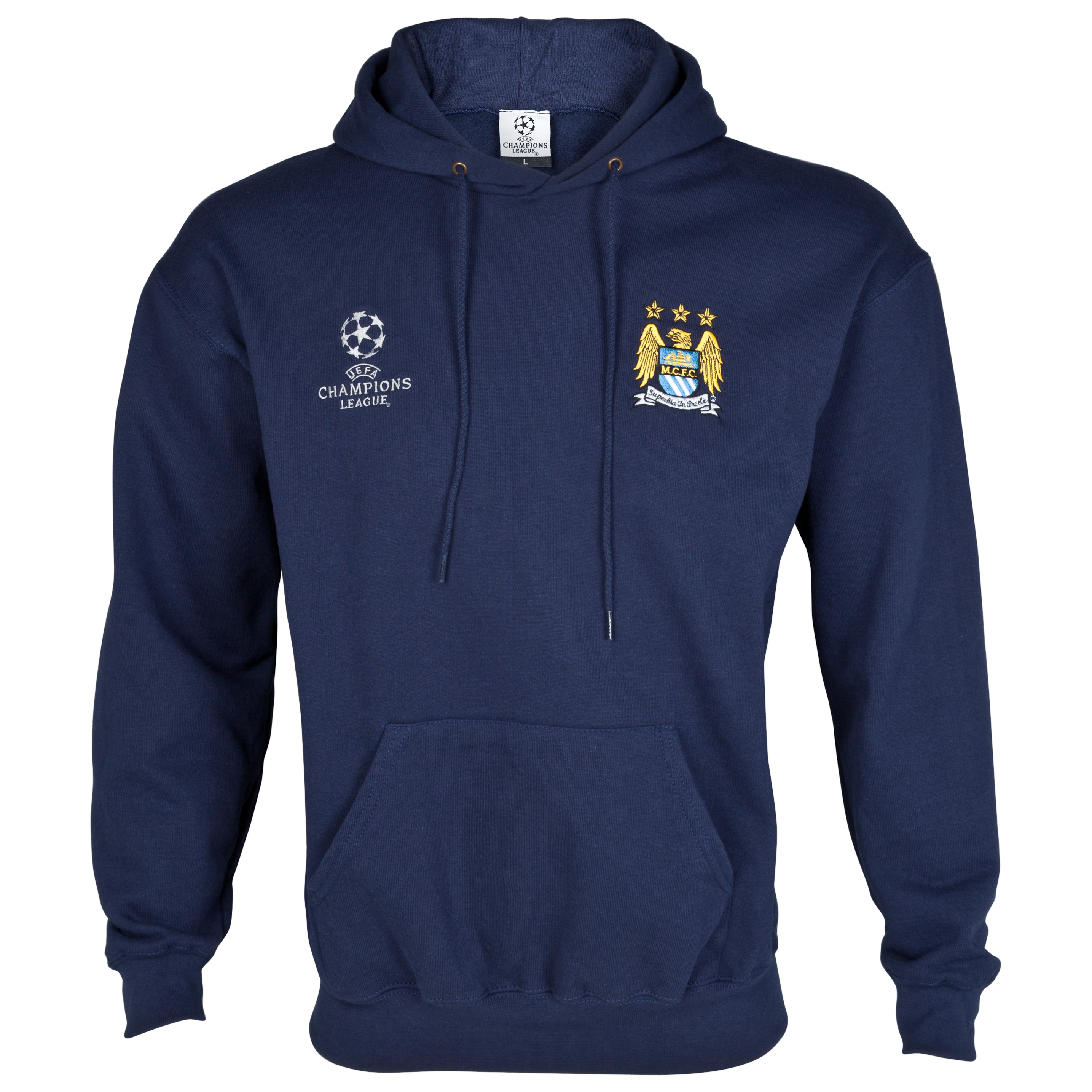 Manchester City UEFA Champions League Embroidered Hoody - Navy