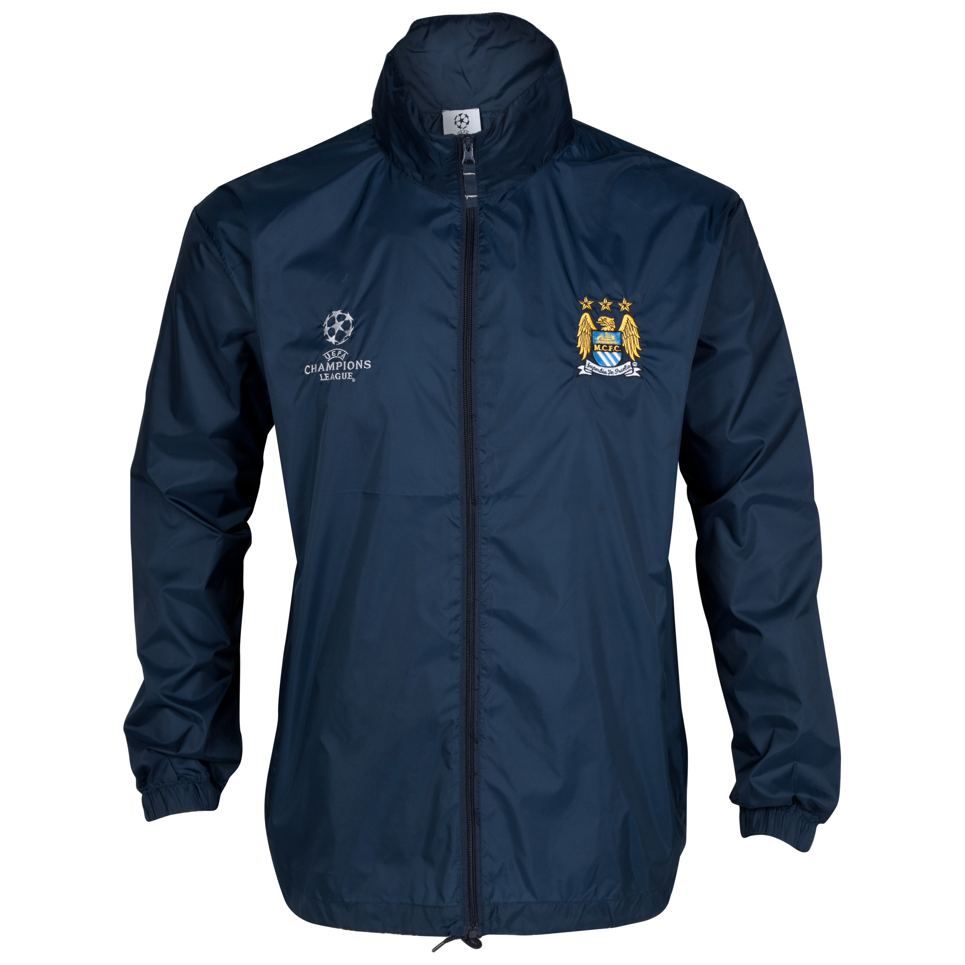 Manchester City UEFA Champions League Embroidered Windbreaker - Navy