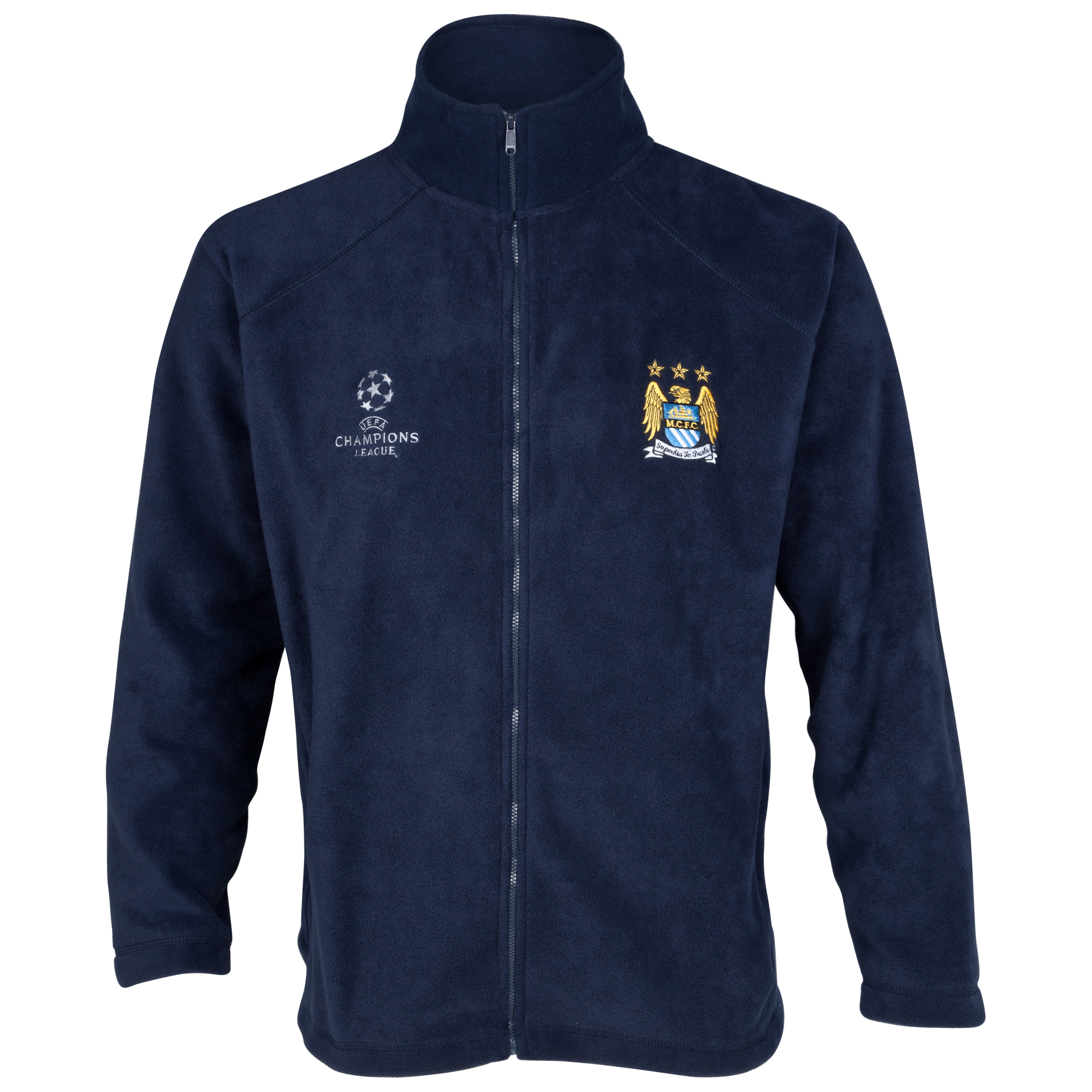Manchester City UEFA Champions League Embroidered Fleece Jacket - Navy