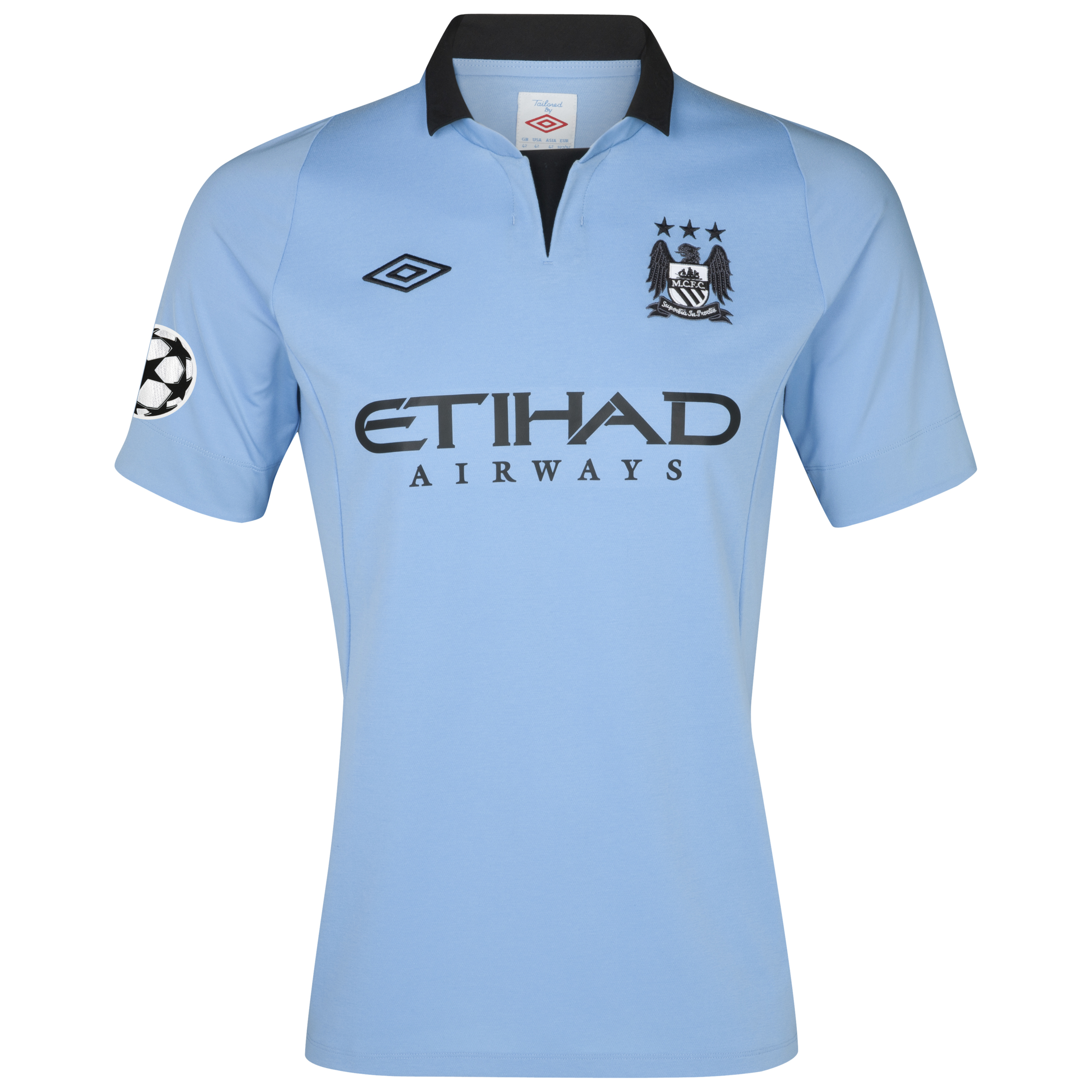 Manchester City UEFA Champions League Home Shirt 2012/13 - Junior