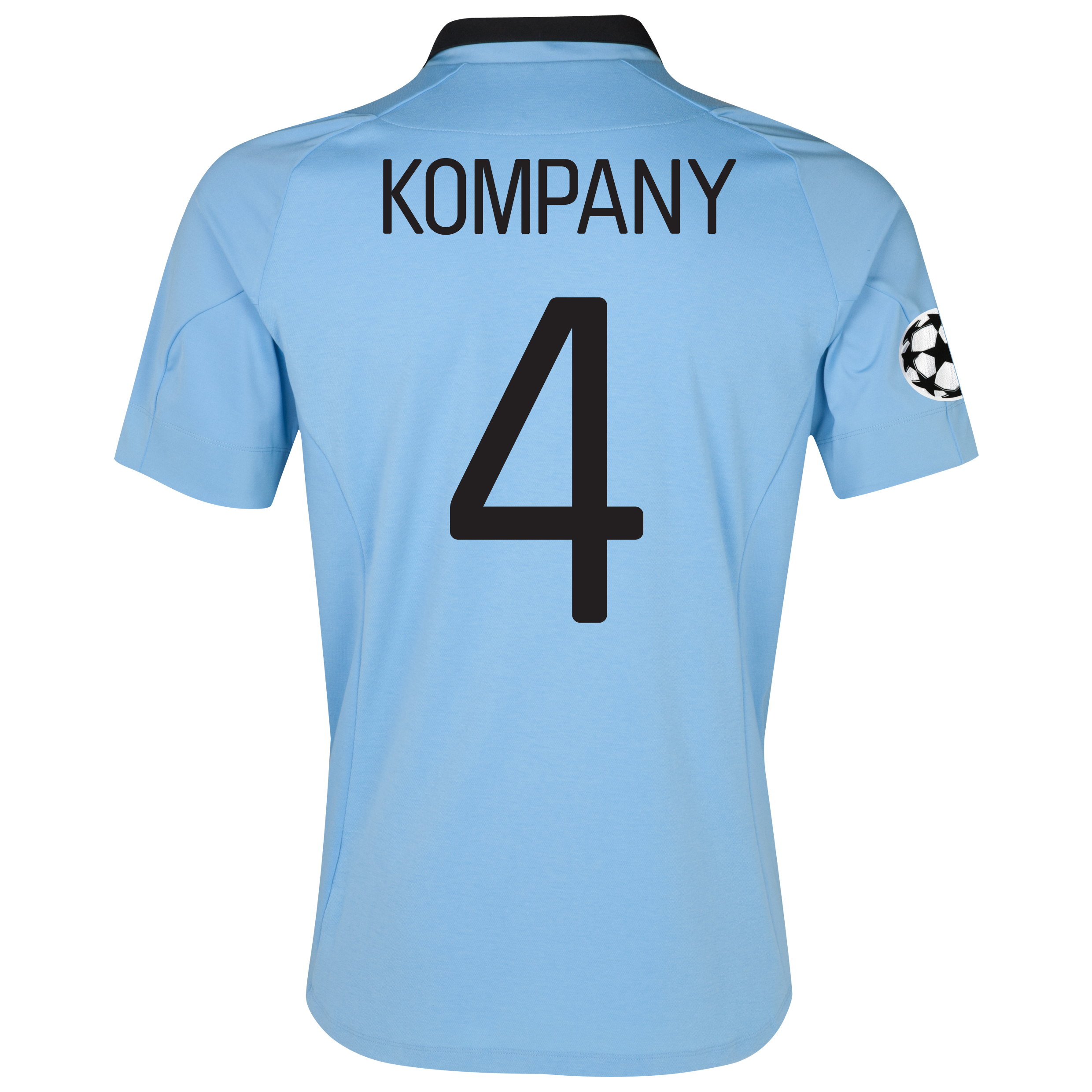 Manchester City UEFA Champions League Home Shirt 2012/13 with Kompany 4 printing