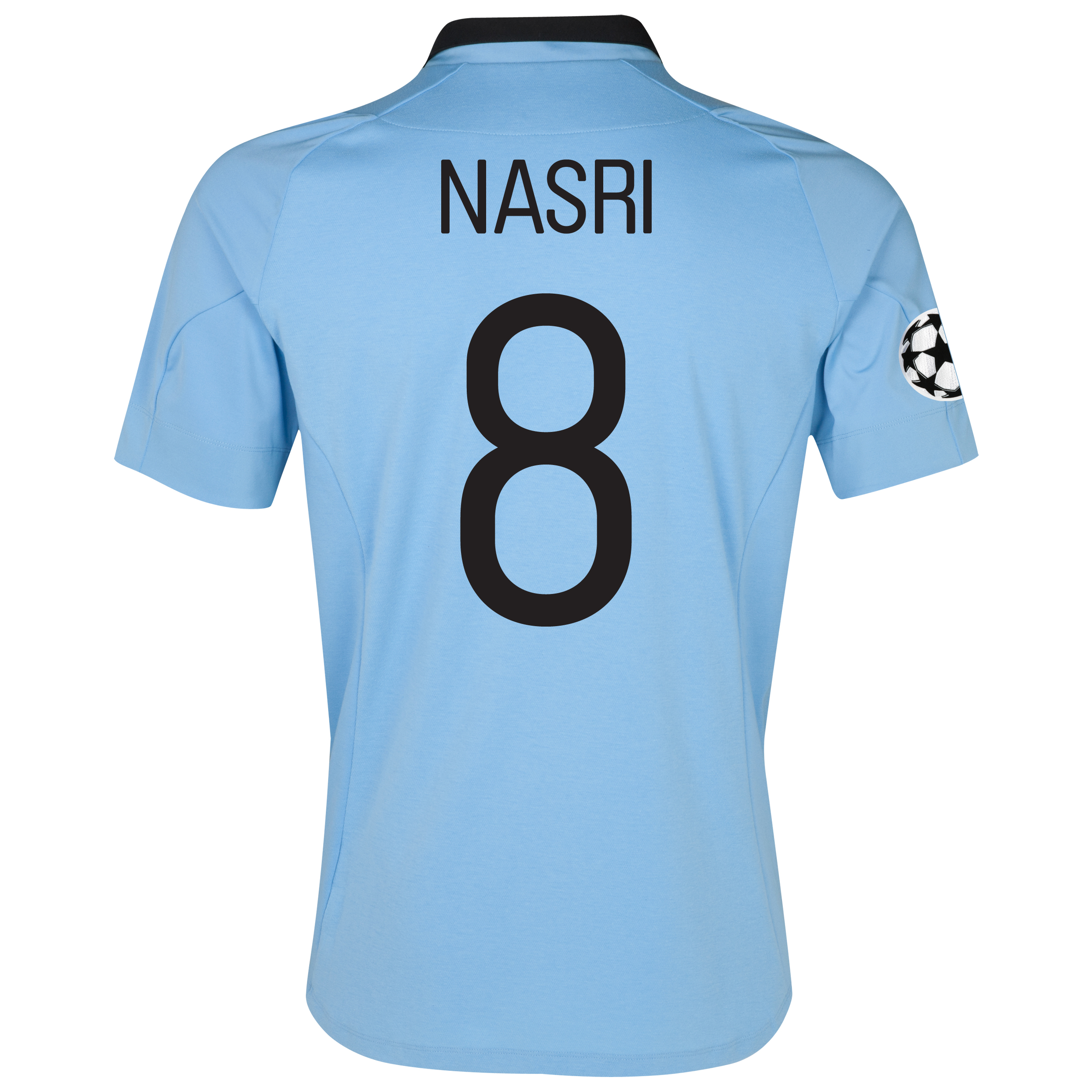 Manchester City UEFA Champions League Home Shirt 2012/13 with Nasri 8 printing