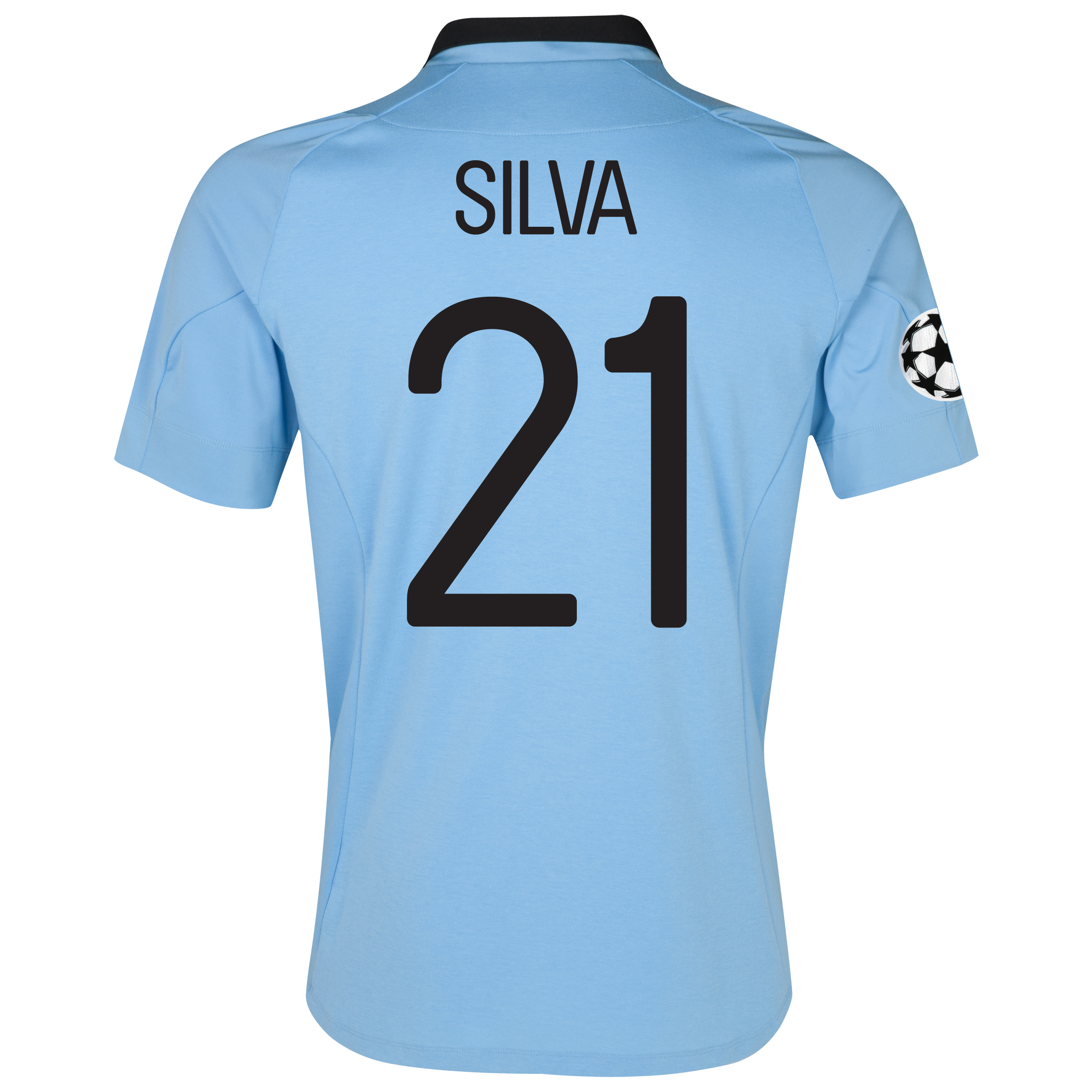 Manchester City UEFA Champions League Home Shirt 2012/13 with Silva 21 printing