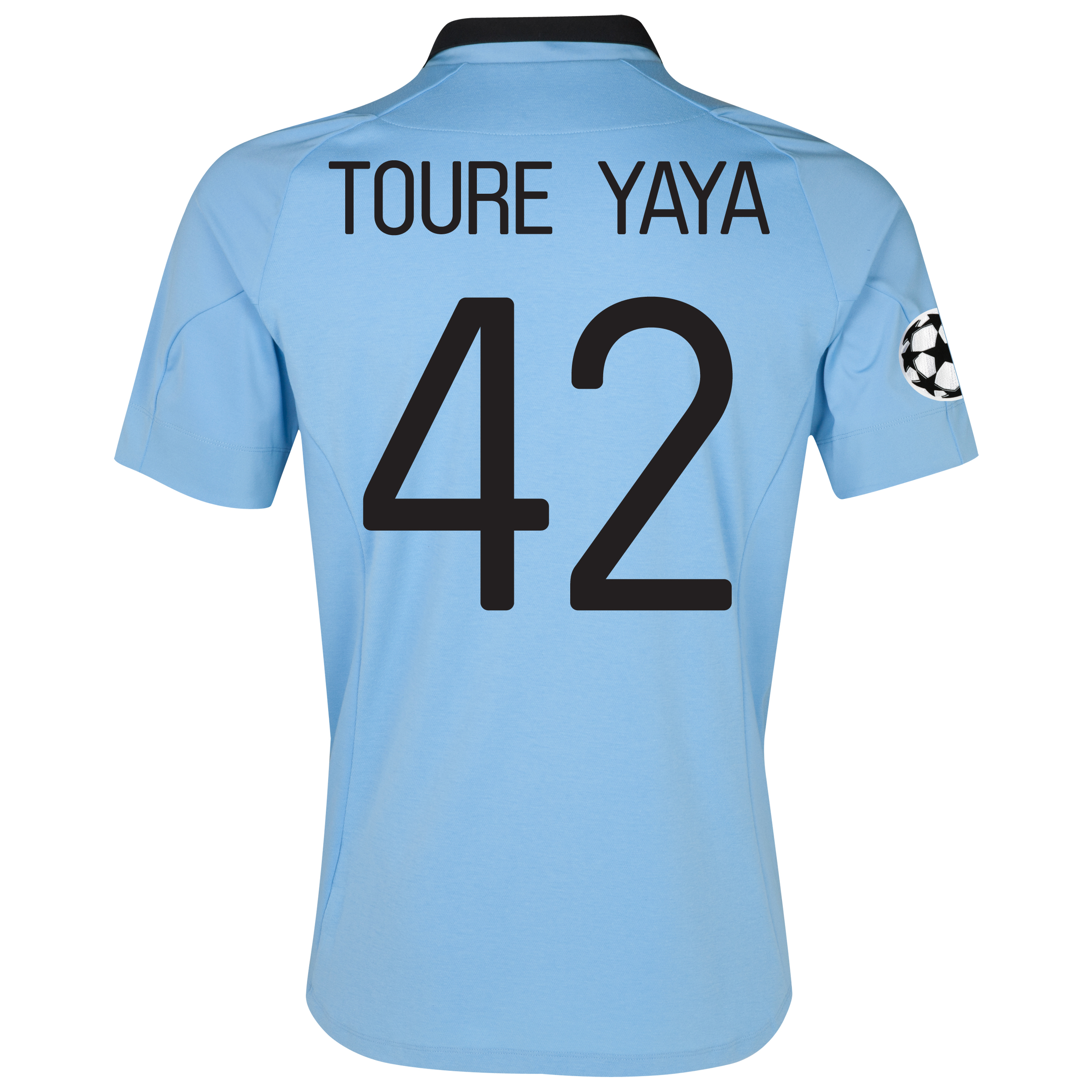 Manchester City UEFA Champions League Home Shirt 2012/13 with Toure Yaya 42 printing