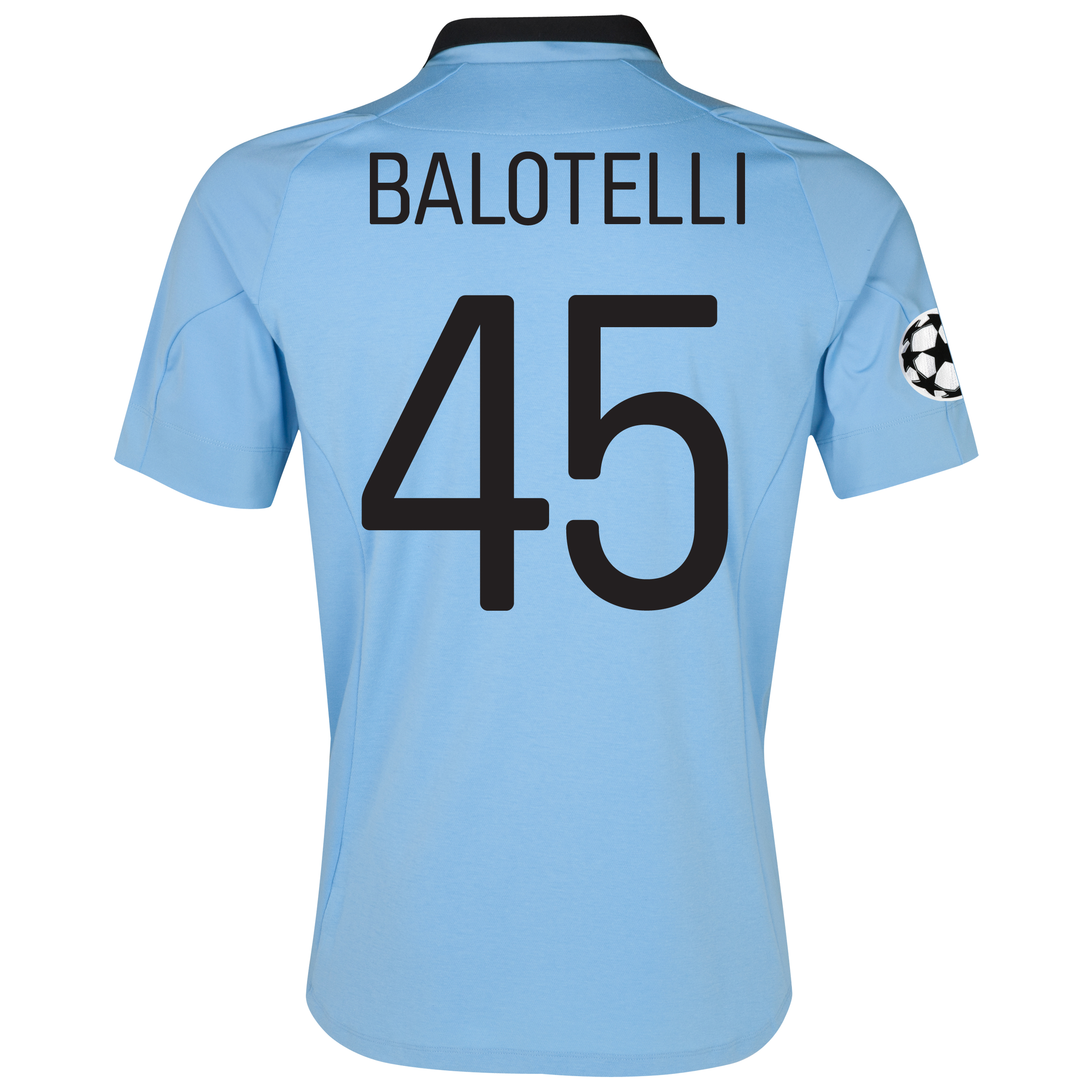 Manchester City UEFA Champions League Home Shirt 2012/13 with Balotelli 45 printing