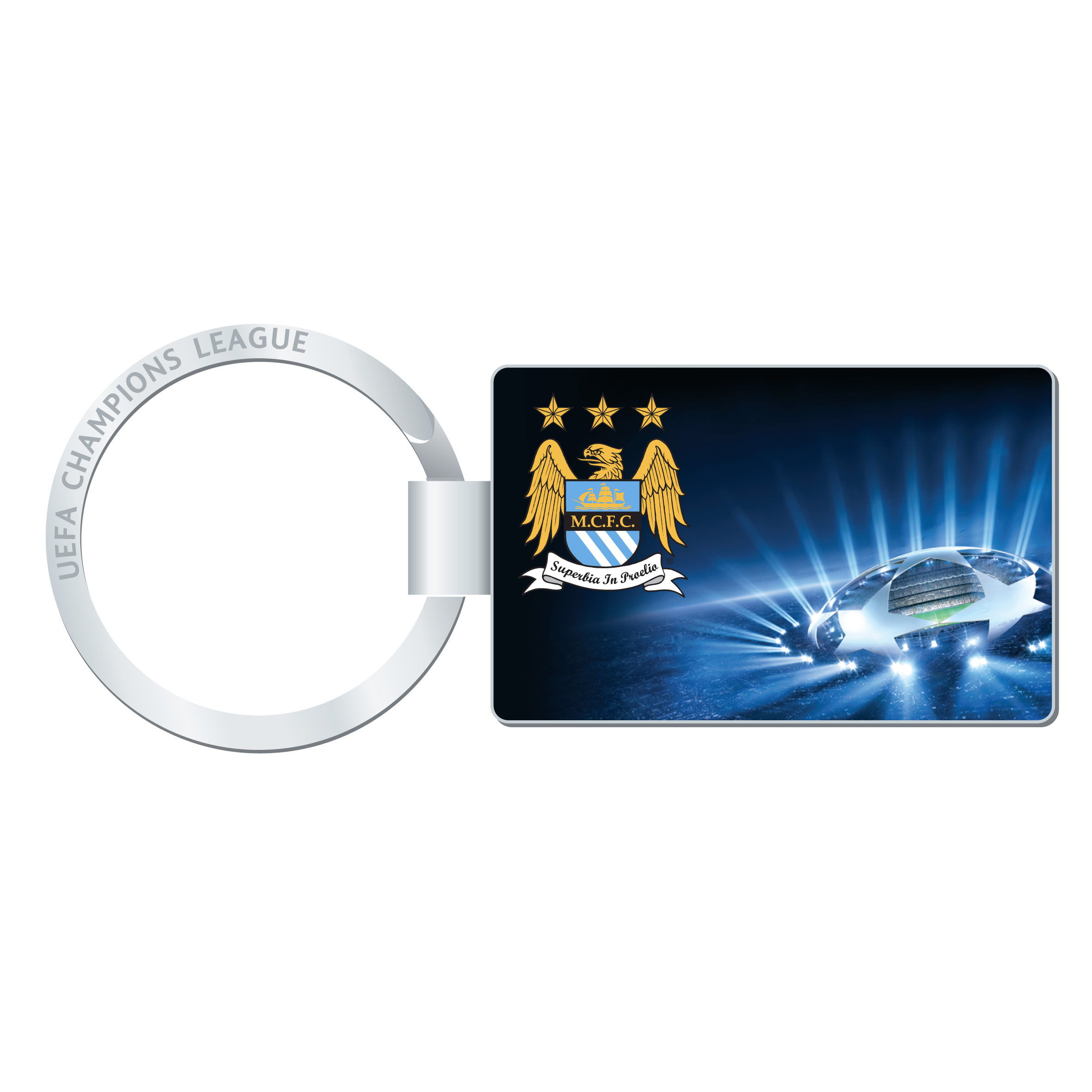 Manchester City Champions League Keyring