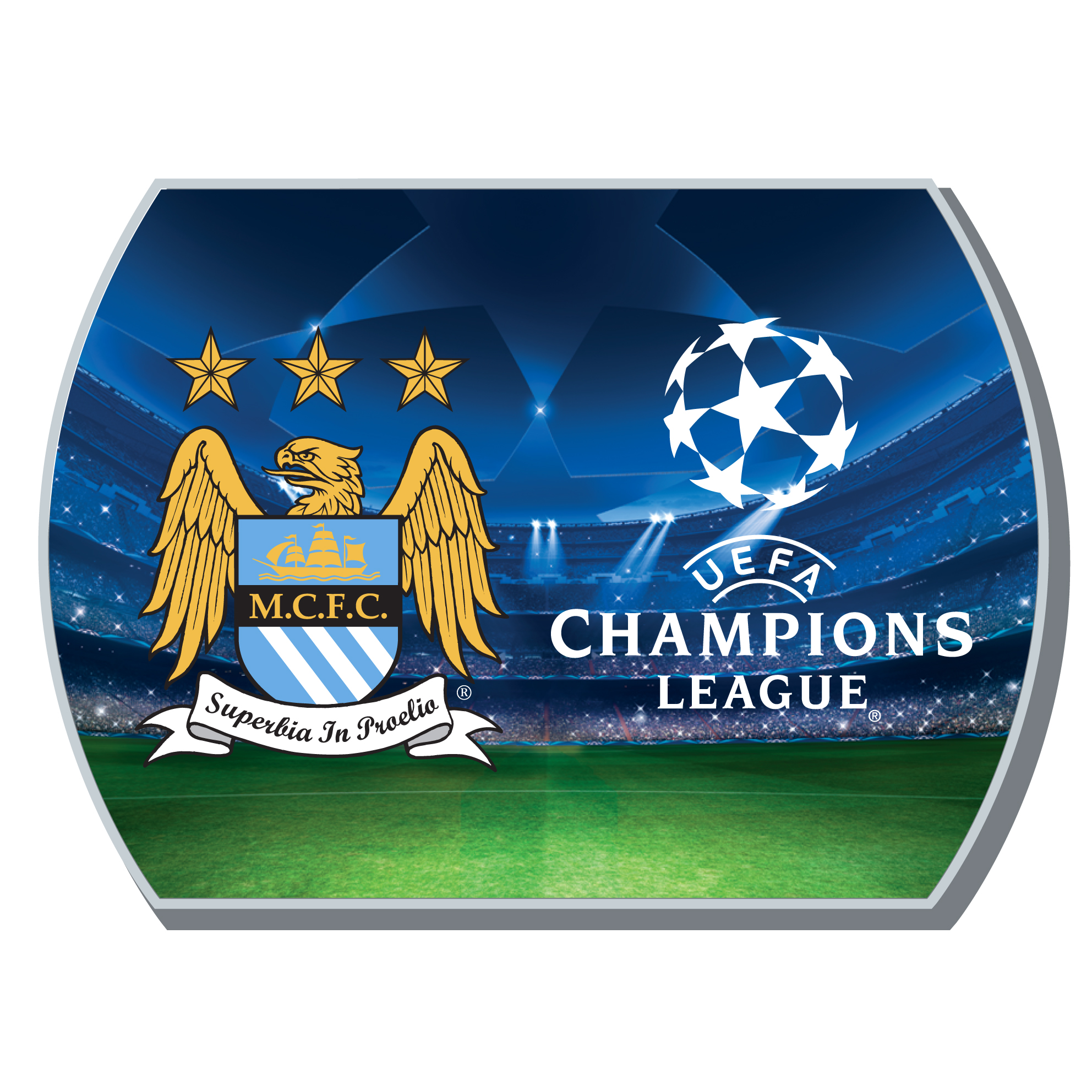 Manchester City Champions League Fridge Magnet