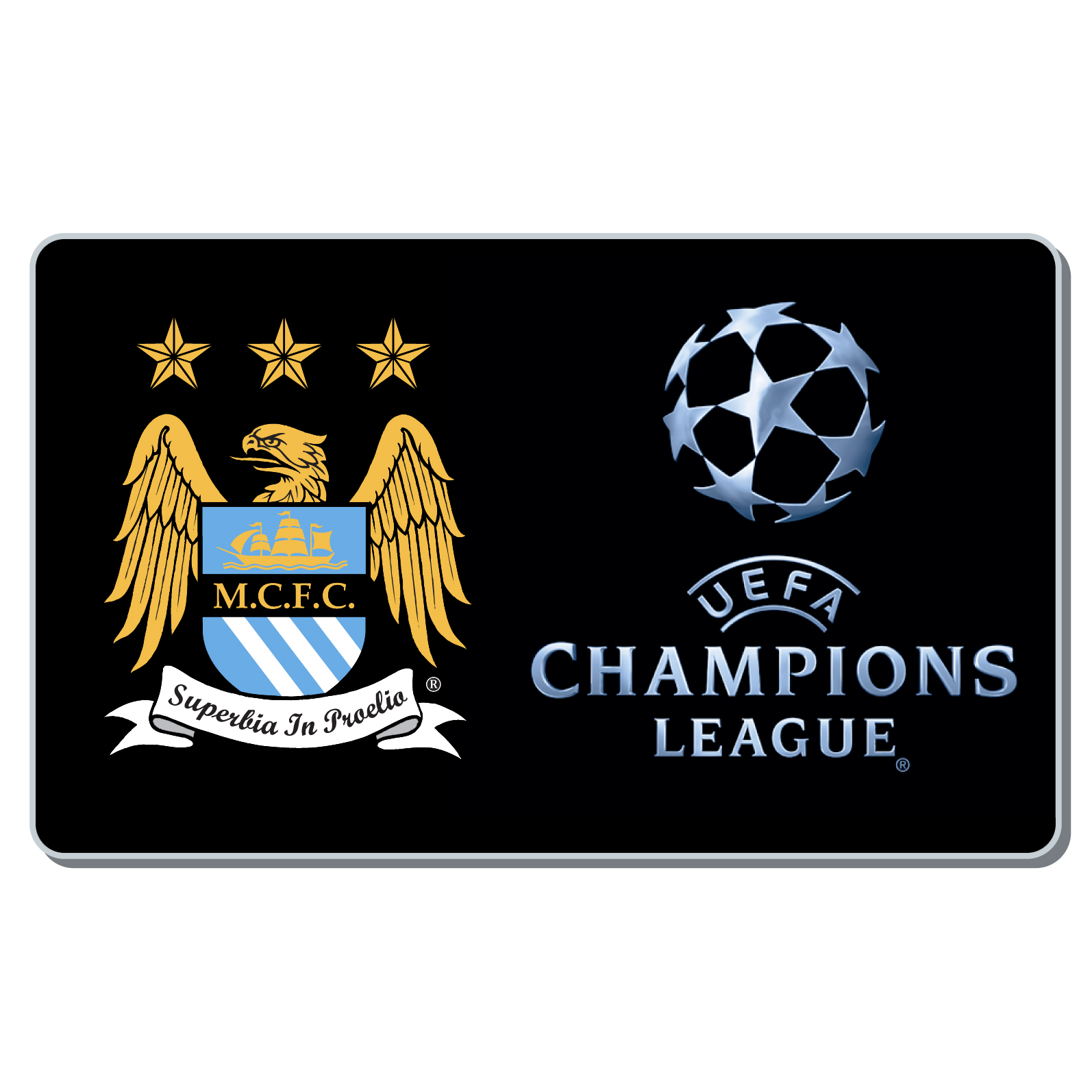 Manchester City Champions League Badge